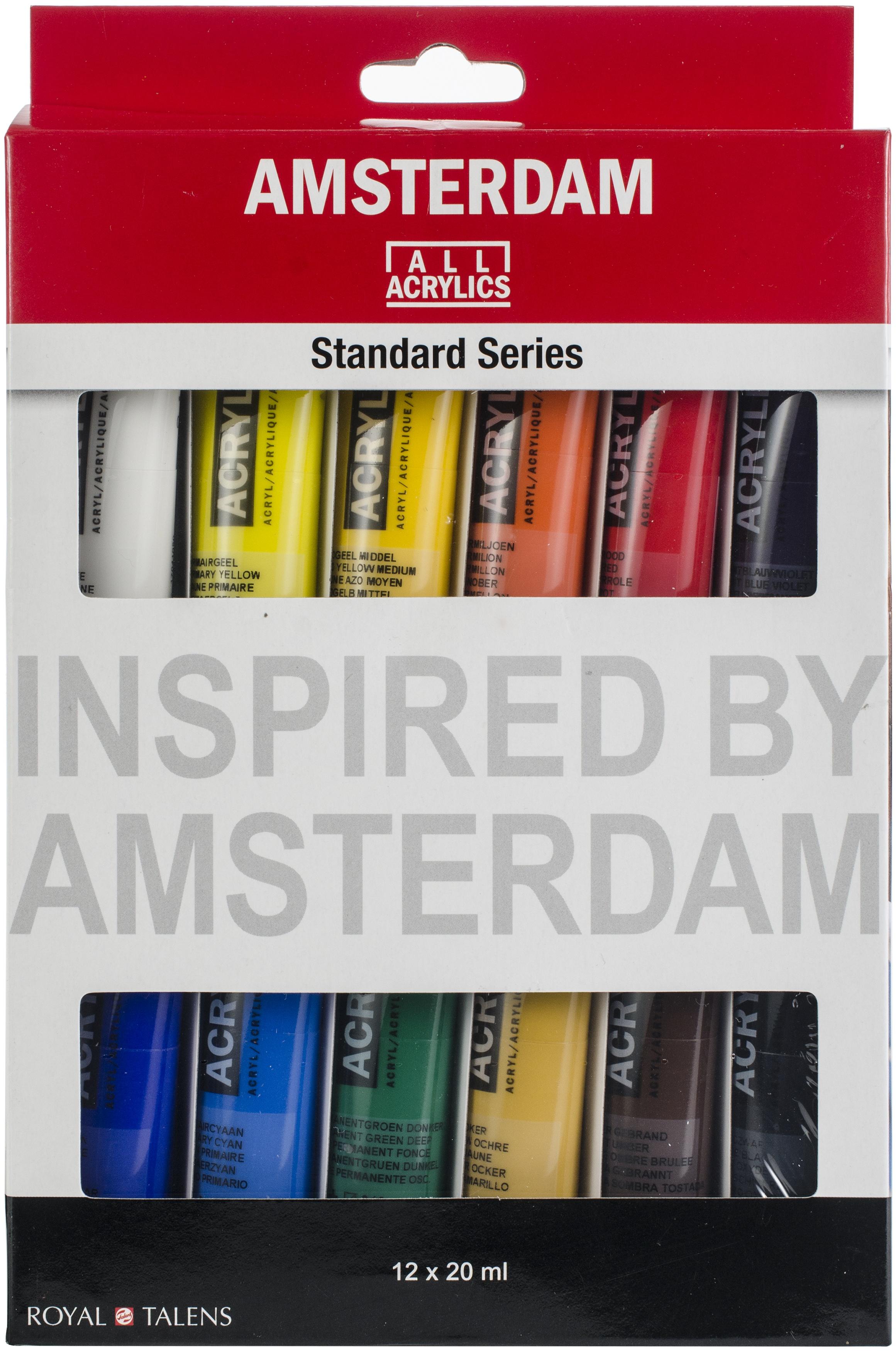 Amsterdam 20ml Standard Acrylic Paint Set 12/Pkg-
