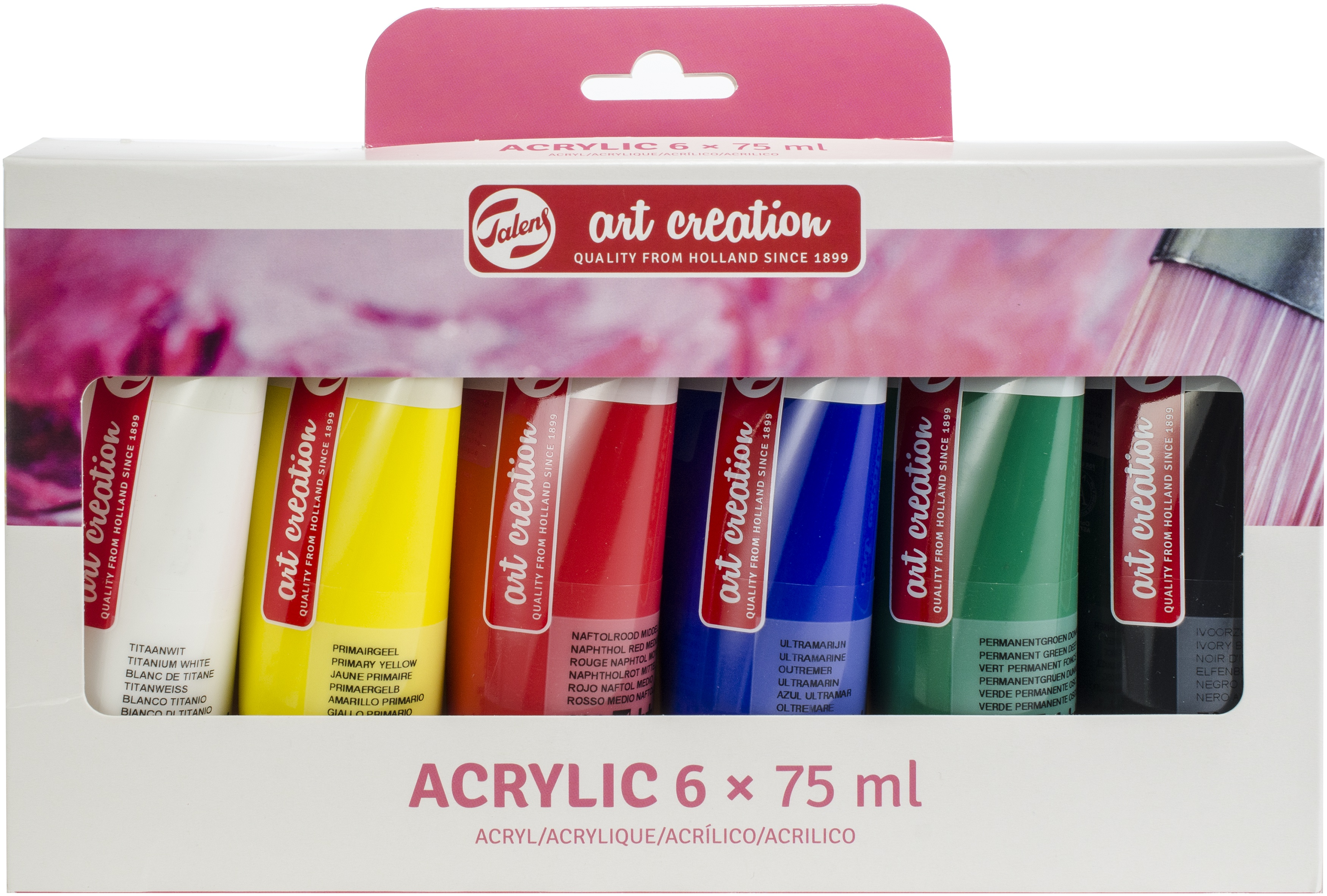 Talens Art Creation 75ml Acrylic Paint Set 6/Pkg-
