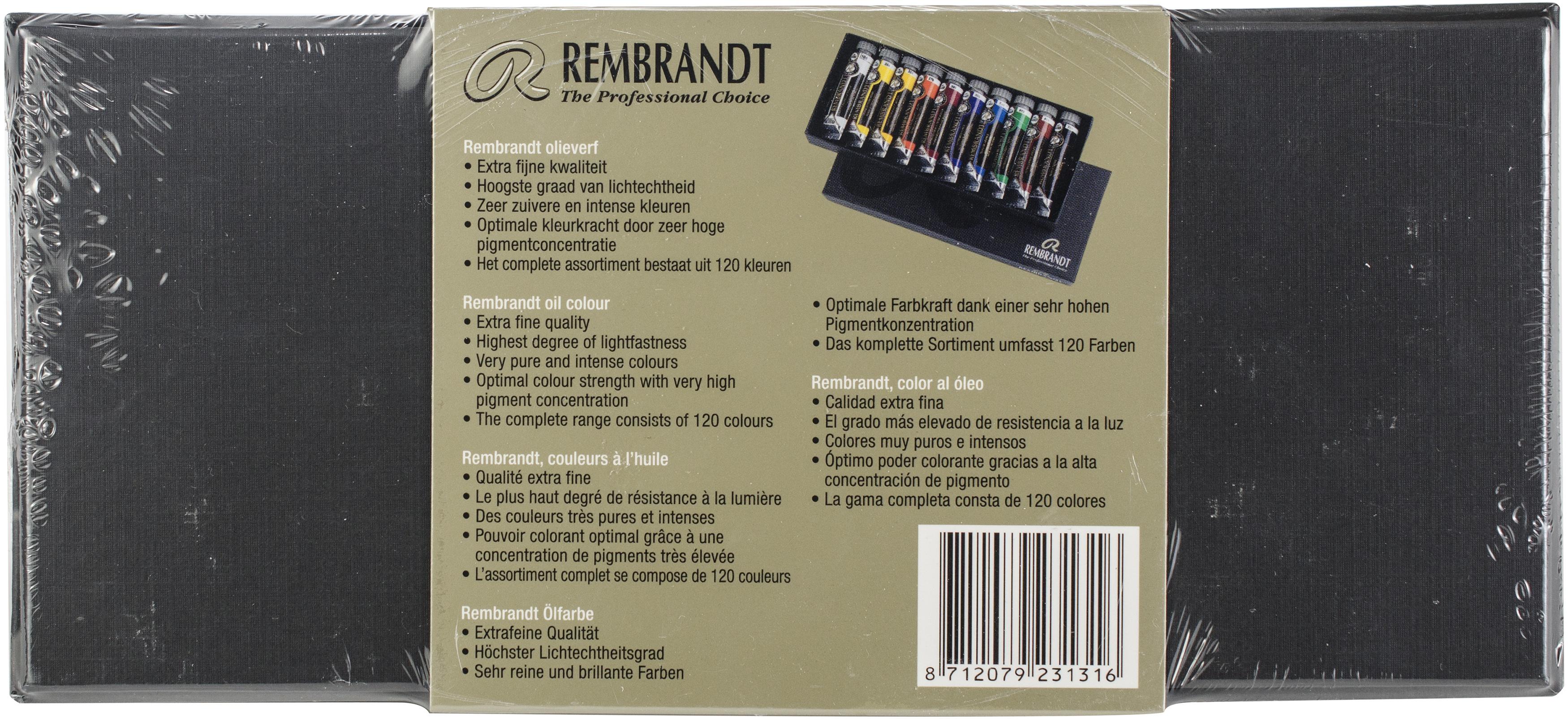 Rembrandt 15ml Oil Paint Set 10/Pkg-Basic