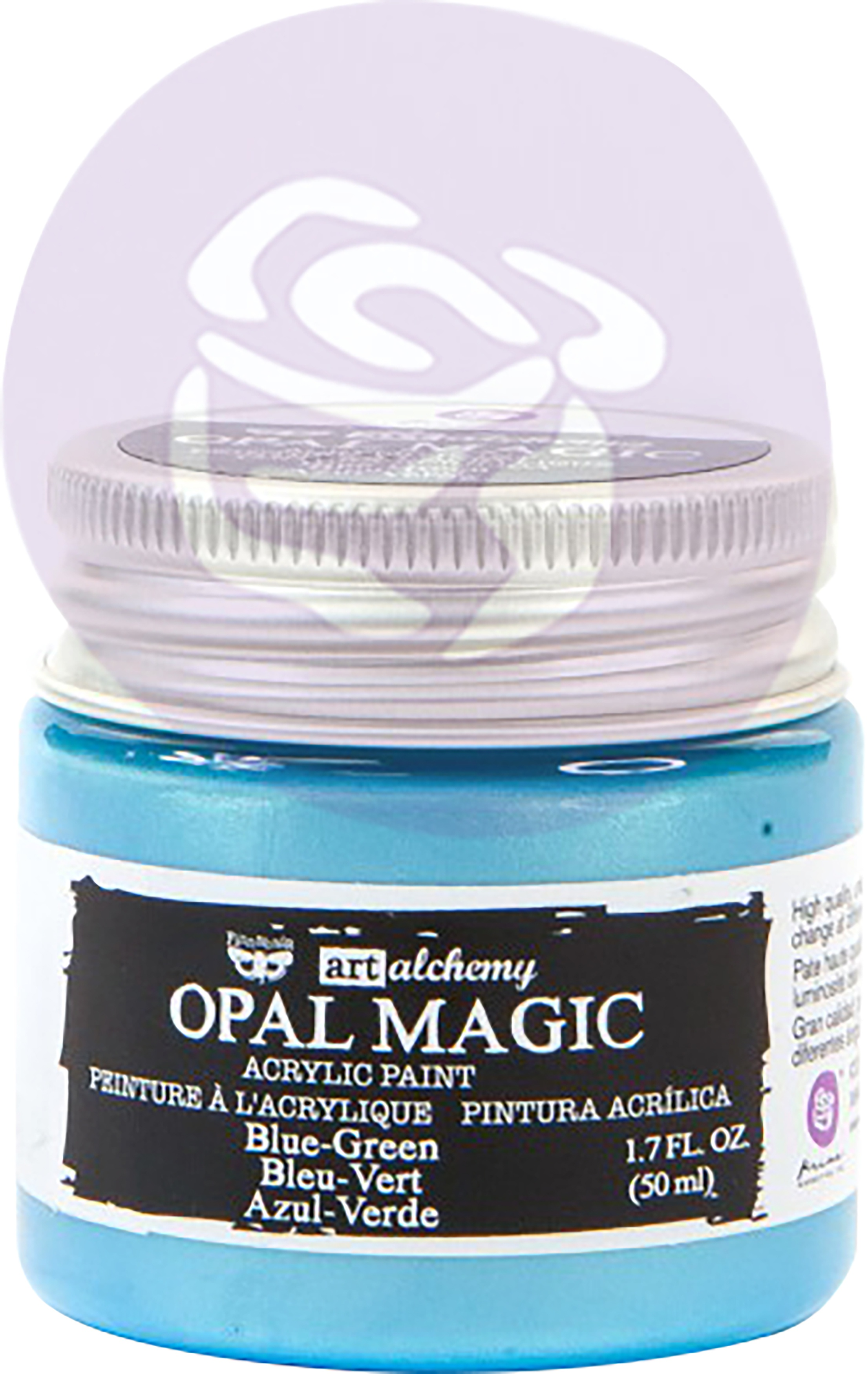 Finnabair Art Alchemy Opal Magic Acrylic Paint 1.7 Fl Oz-Blue/Green