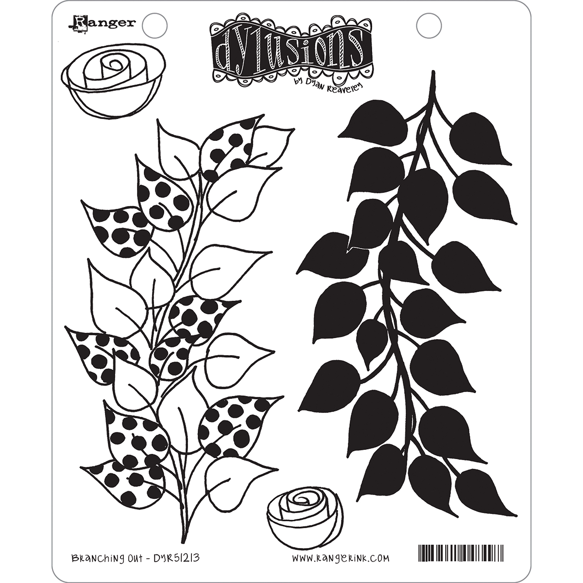 Dyan Reaveley's Dylusions Cling Stamp Collections 8.5X7-Branching Out