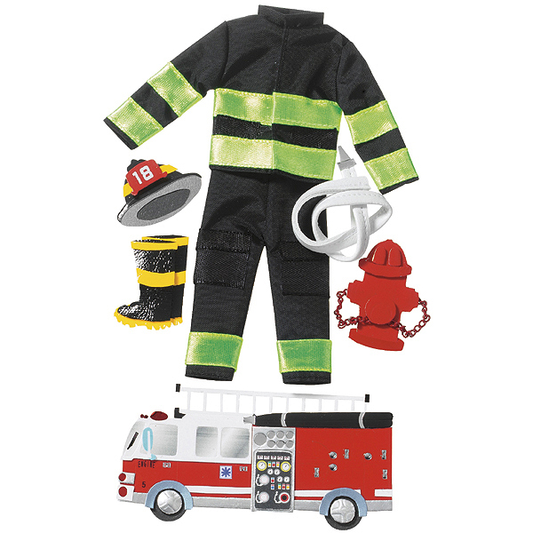 Jolee's Le Grande Dimensional Stickers-Firefighter