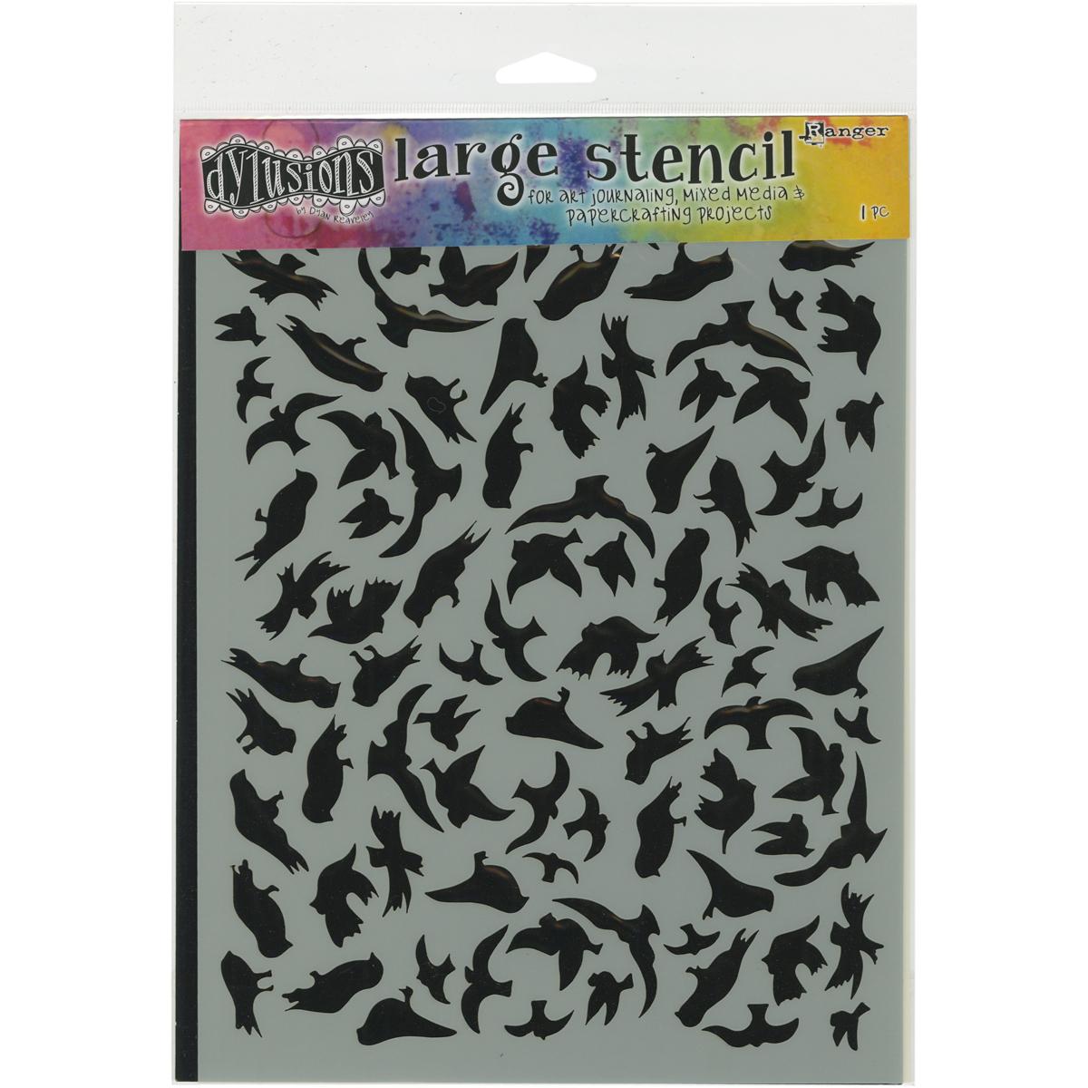 Dyan Reaveley's Dylusions Stencils 9X12-Breeze Of Birds