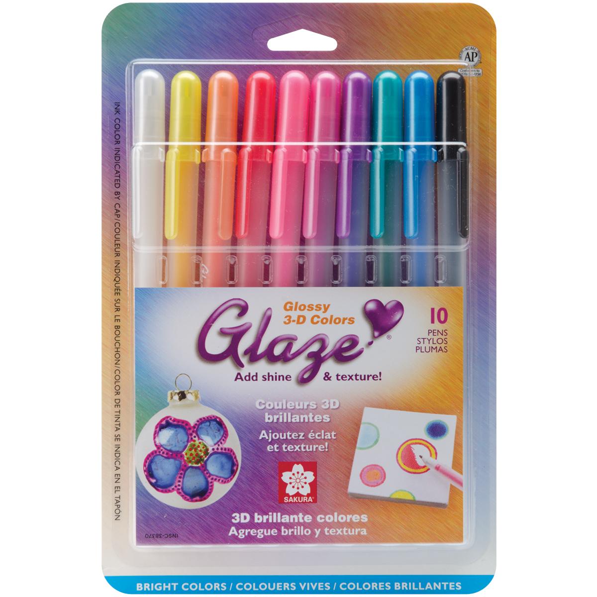 Glaze Pens 10pk Brights