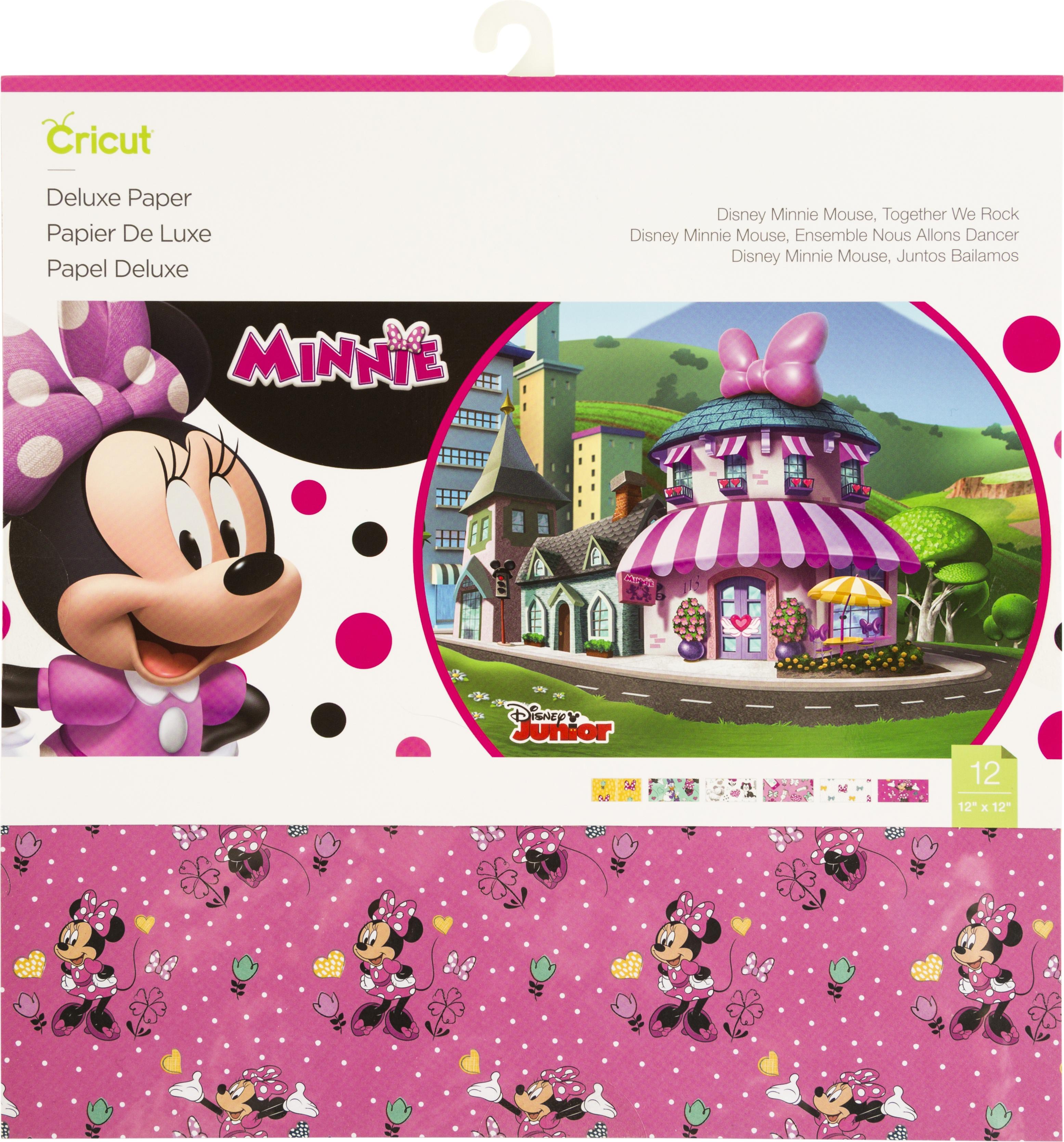 Cricut 12X12 Deluxe Paper 12/Pkg-Disney Minnie Mouse, Together We Rock