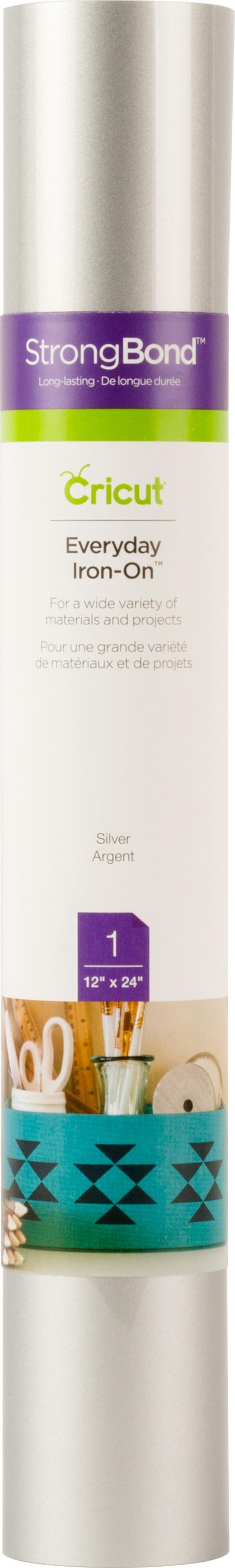 Cricut Everyday Iron On Vinyl 12X24 Roll-Silver