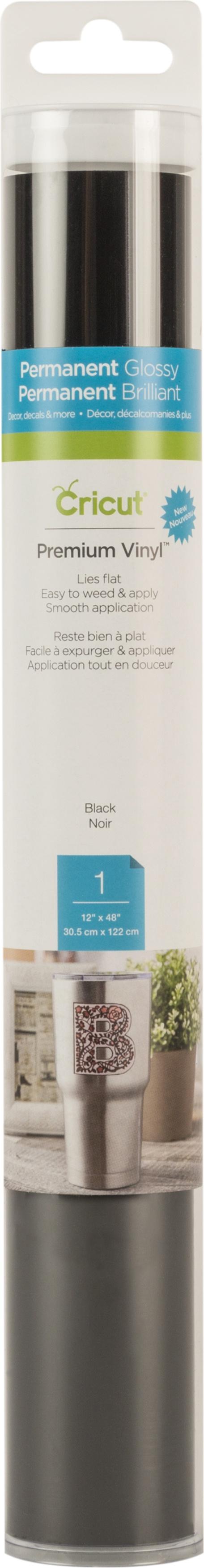 BLACK     -CRICUT VINYL 12X48