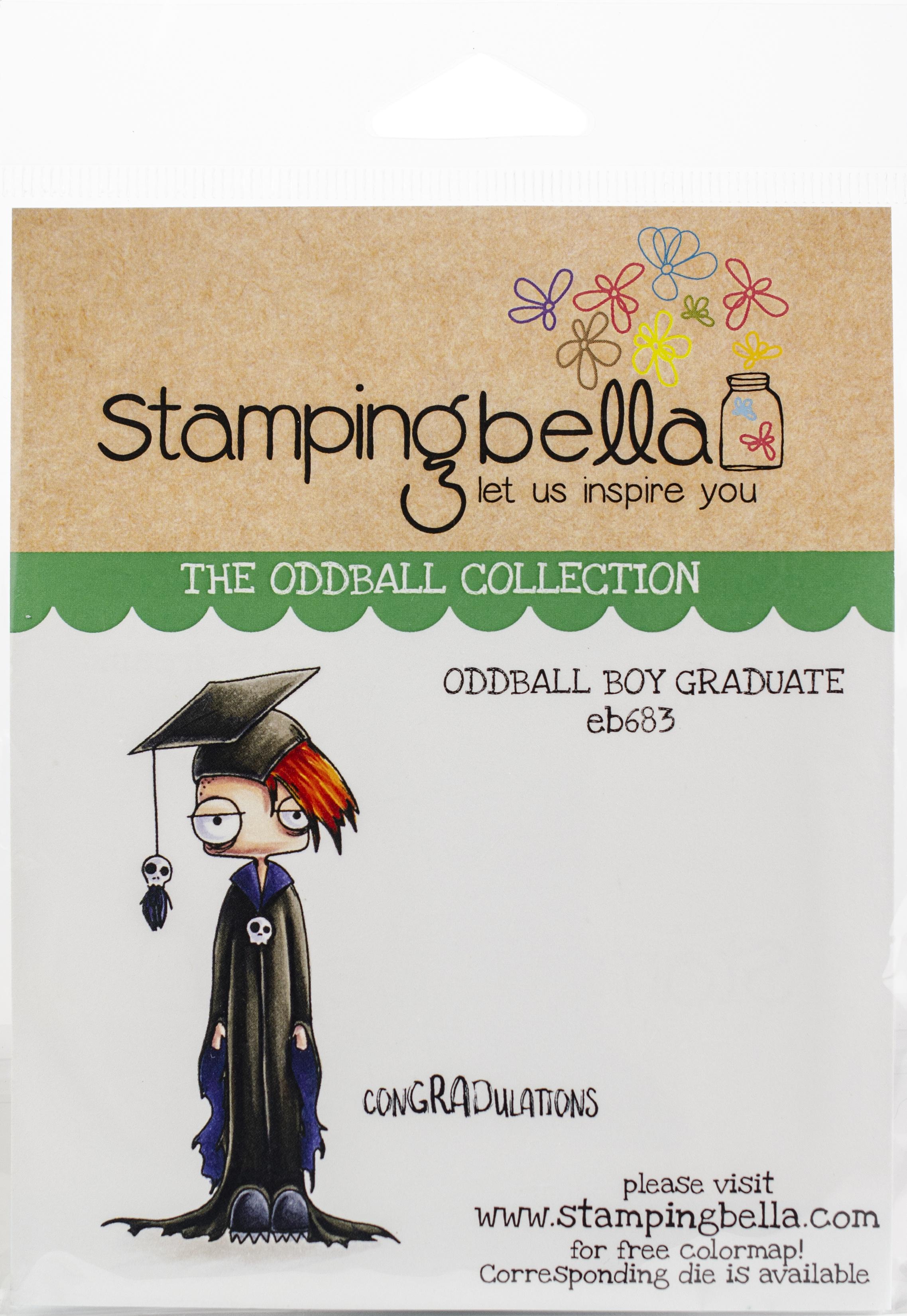 Stamping Bella Cling Stamps - Oddball Boy Graduate