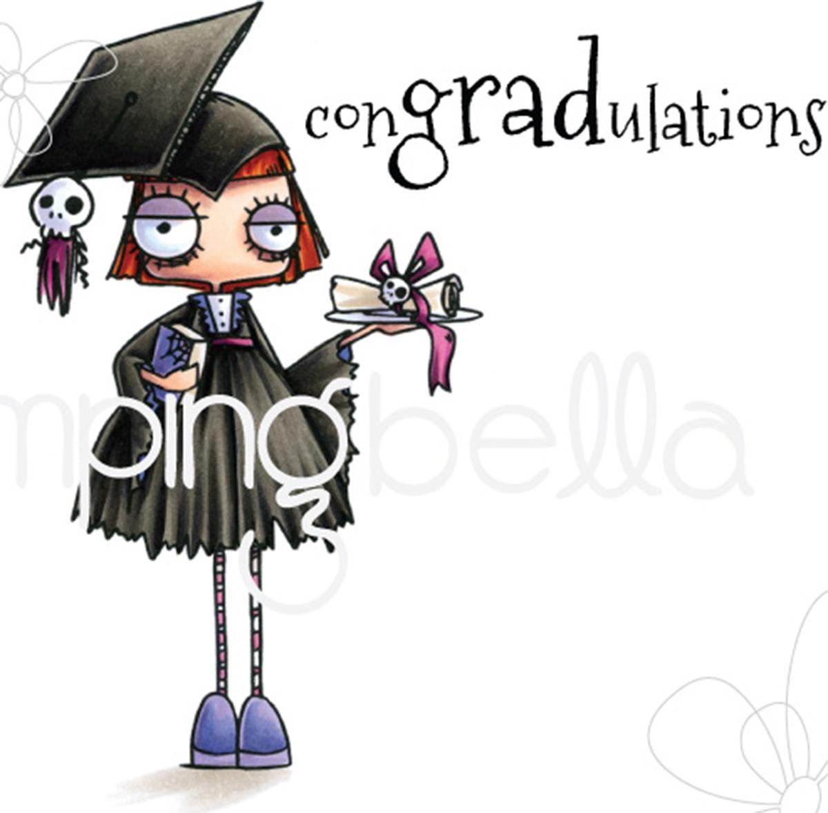Stamping Bella Cling Stamps-Oddball Girl Graduate