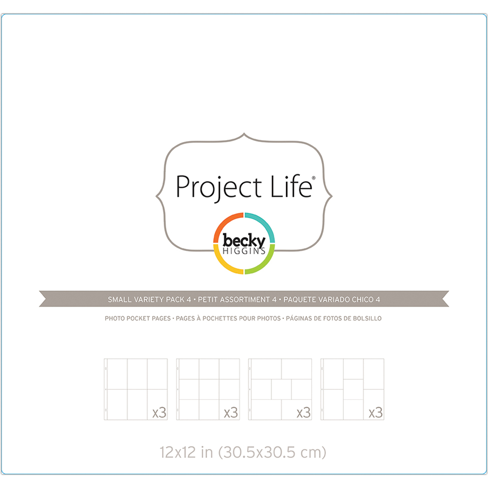 Project Life Photo Pocket Pages 12/Pkg-Small Variety Pack 4