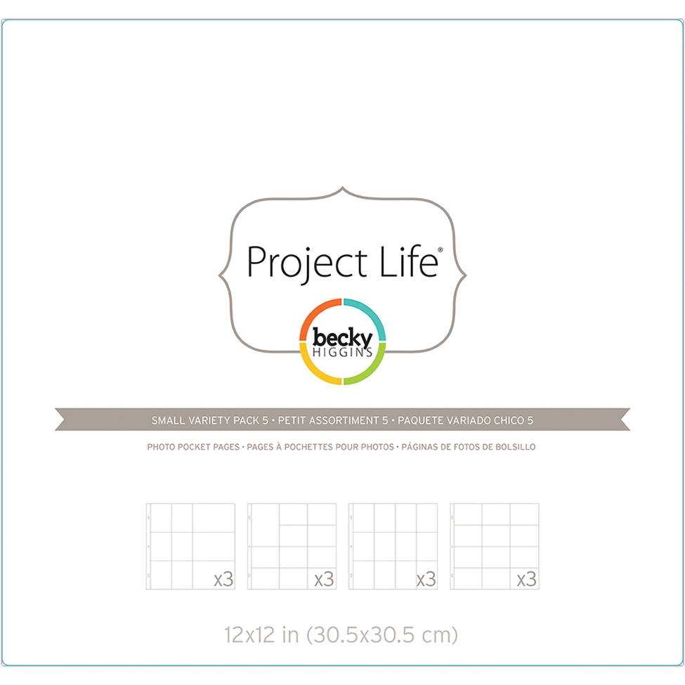 Project Life Photo Pocket Pages 12/Pkg-Small Variety Pack 5