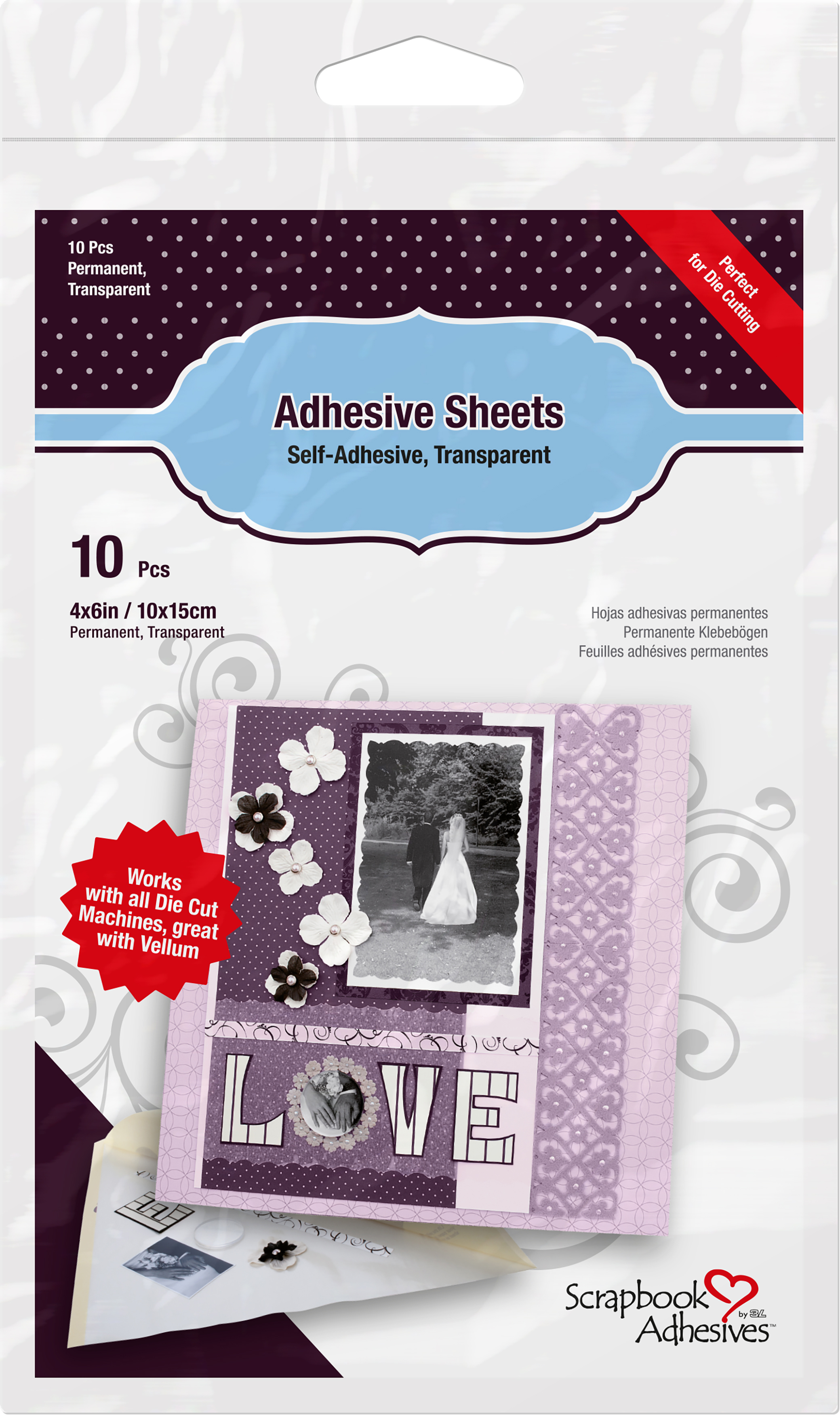Scrapbook Adhesive Sheets 12X12