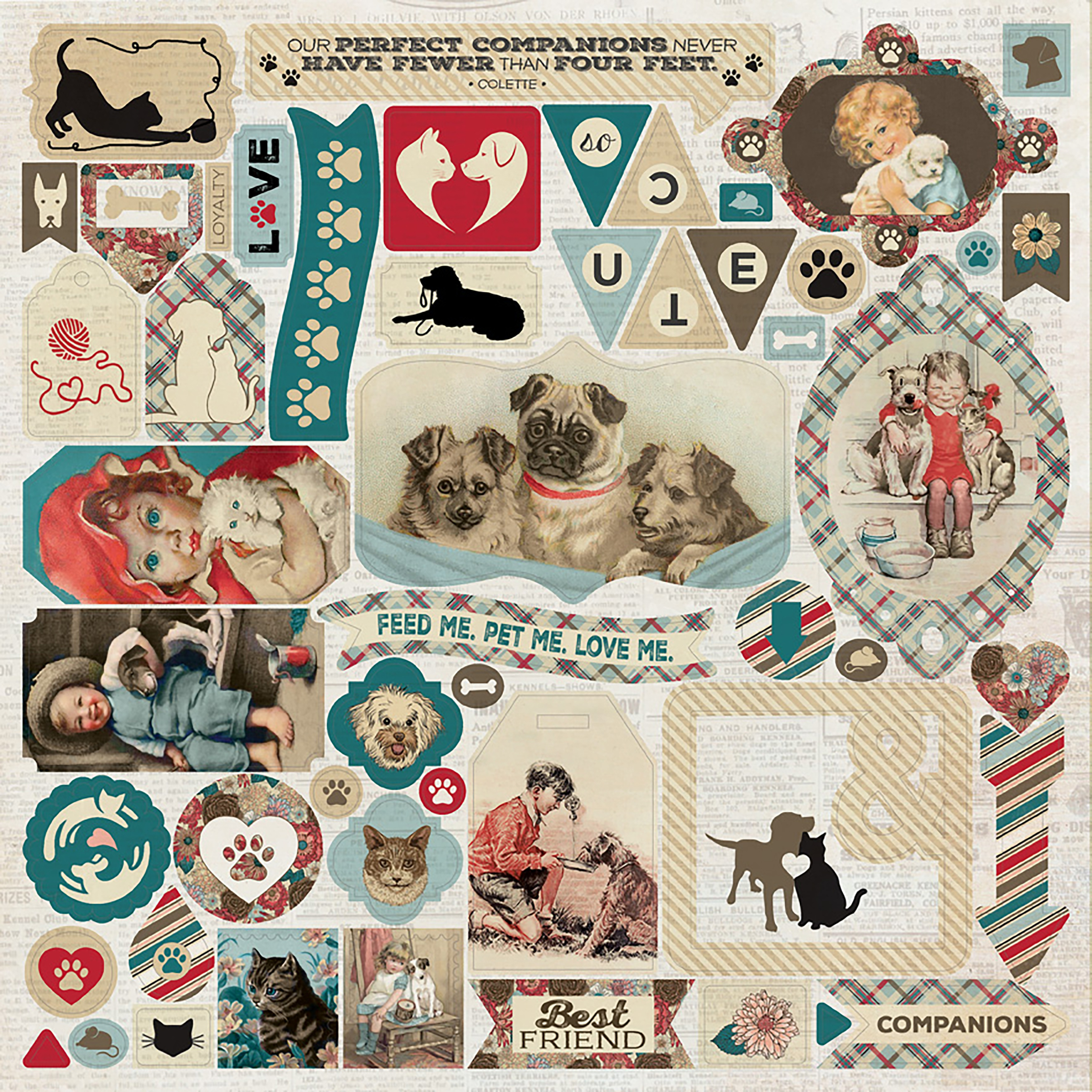Companions Cardstock Stickers 12X12-Details