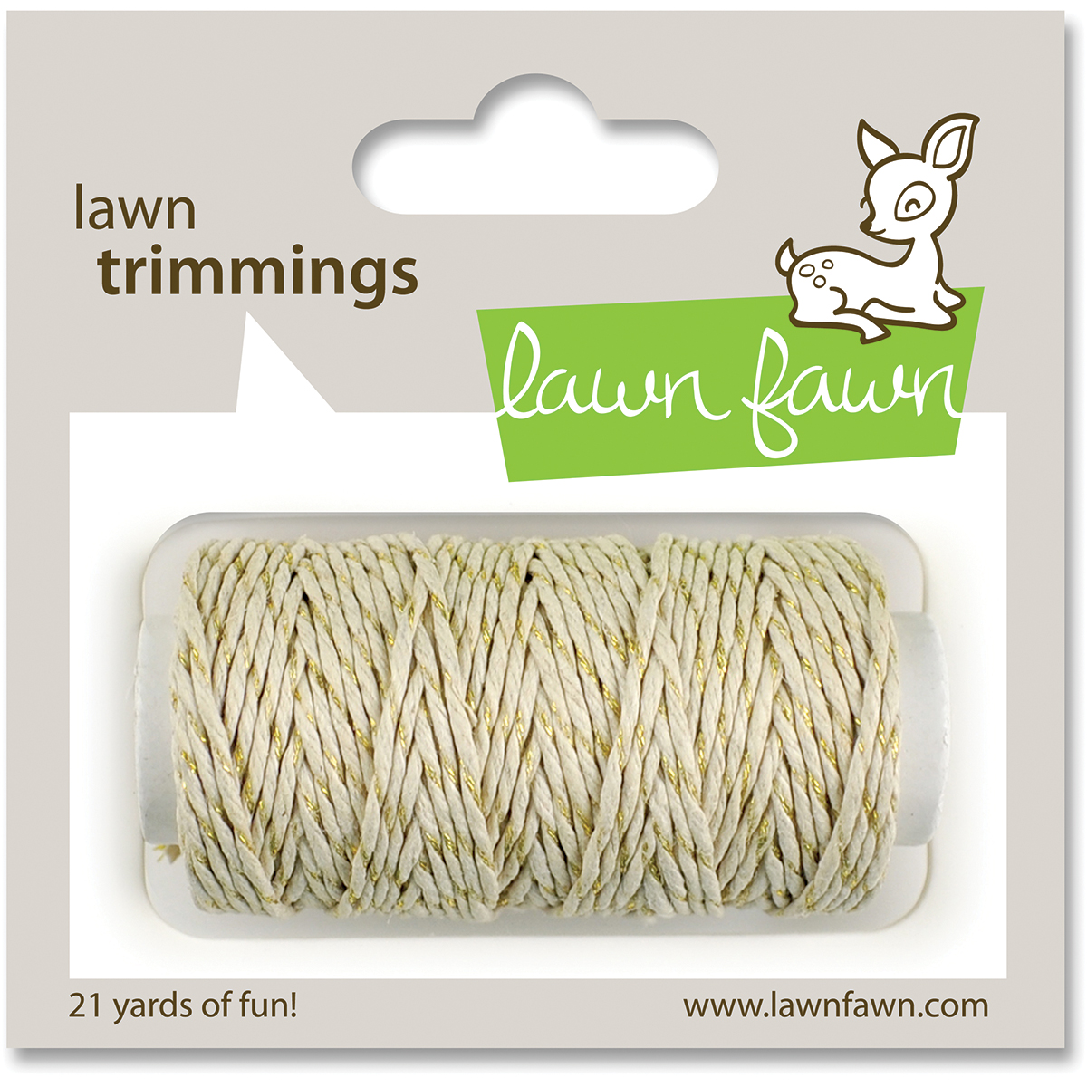 Lawn Trimmings Hemp Cord 21yd-Gold Sparkle