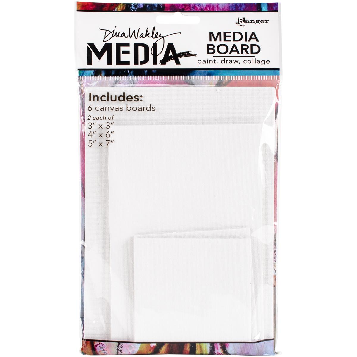 Dina Wakley Media Board Mixed Pack (Includes 2- 3 x 3 Panels 2- 4 x 6 Panels 2- 5 x 7 Panels)