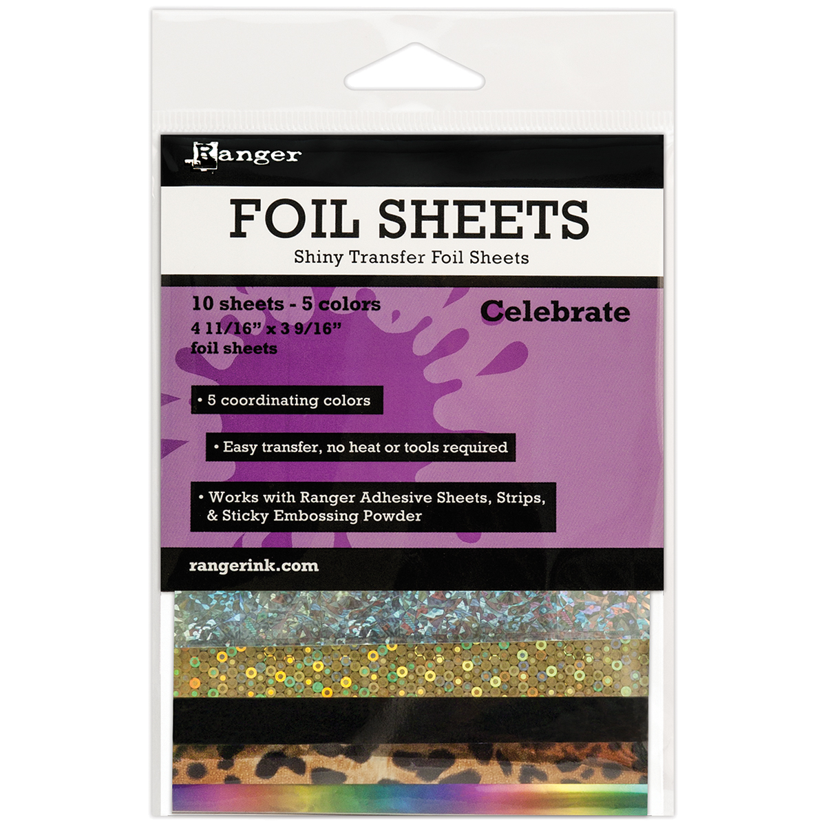 Foil Sheets 10/Pkg Celebrate