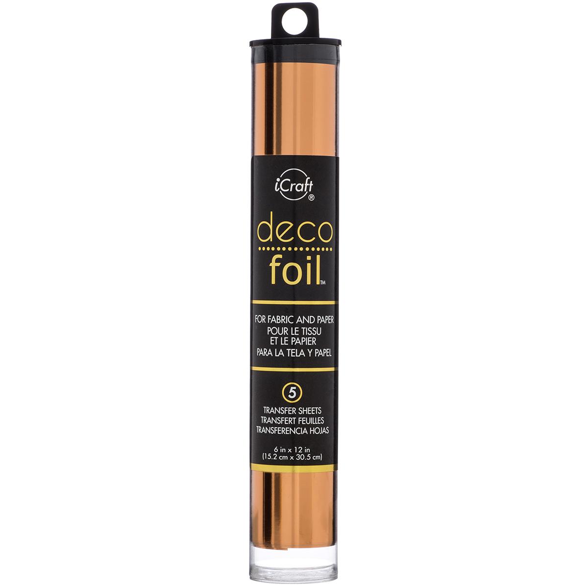 Deco Foil 6x12 Transfer Sheets - Copper, 5/Pkg