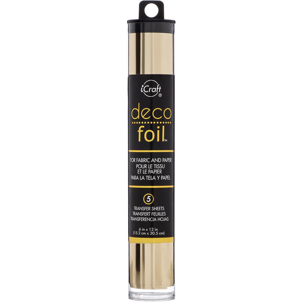 Deco Foil 6x12 Transfer Sheets - Champagne, 5/Pkg