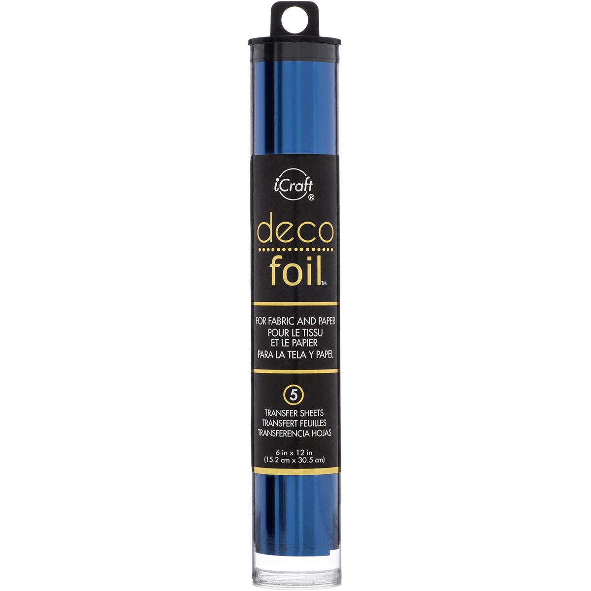 Deco Foil Transfer Sheets 6X12 5/Pkg-Deep Blue