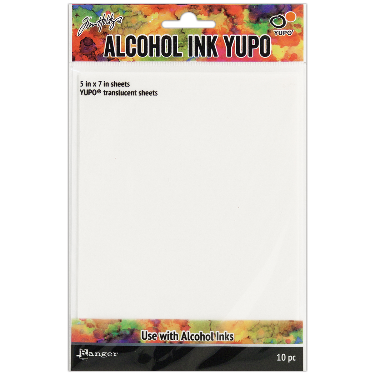 Tim Holtz Alcohol Ink Translucent Yupo Paper 10 Sheets-5X7