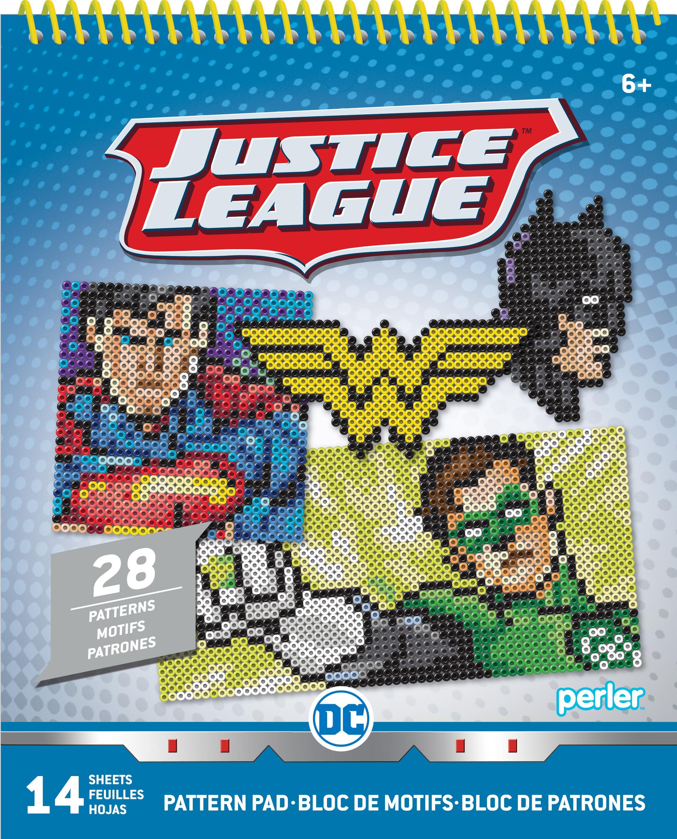 Perler Pattern Pad-Justice League 1