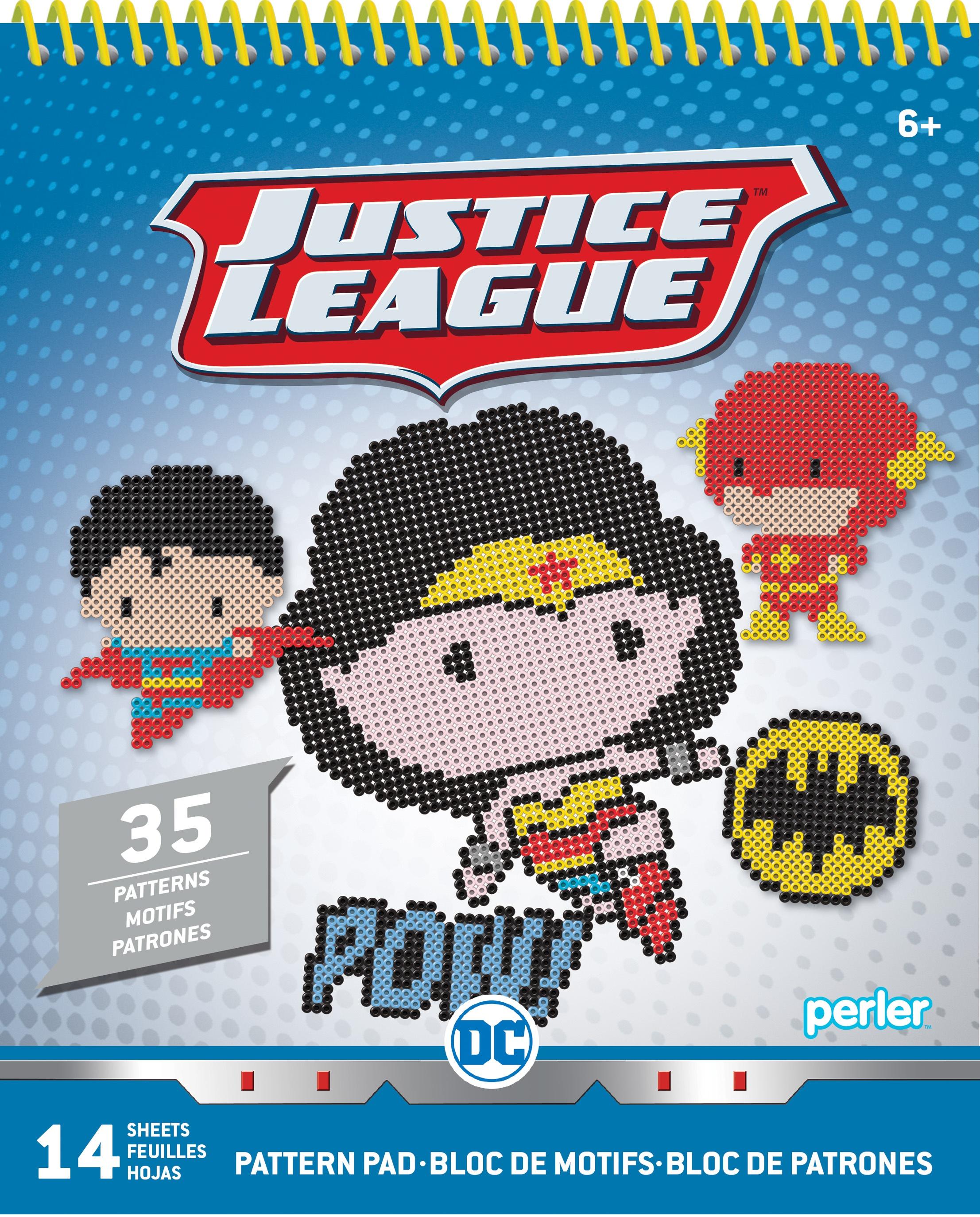 Perler Pattern Pad-Justice League 2
