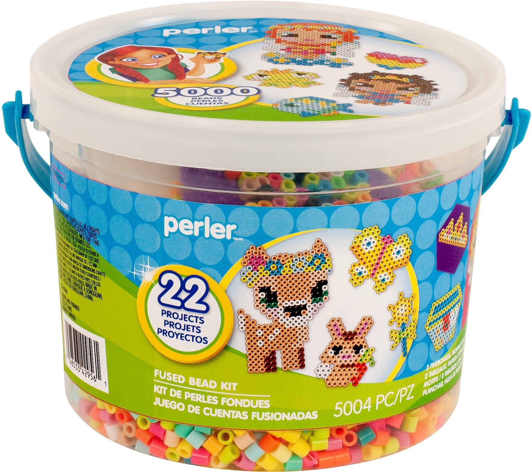 Perler Fused Bead Bucket Kit-Fairies & Friends