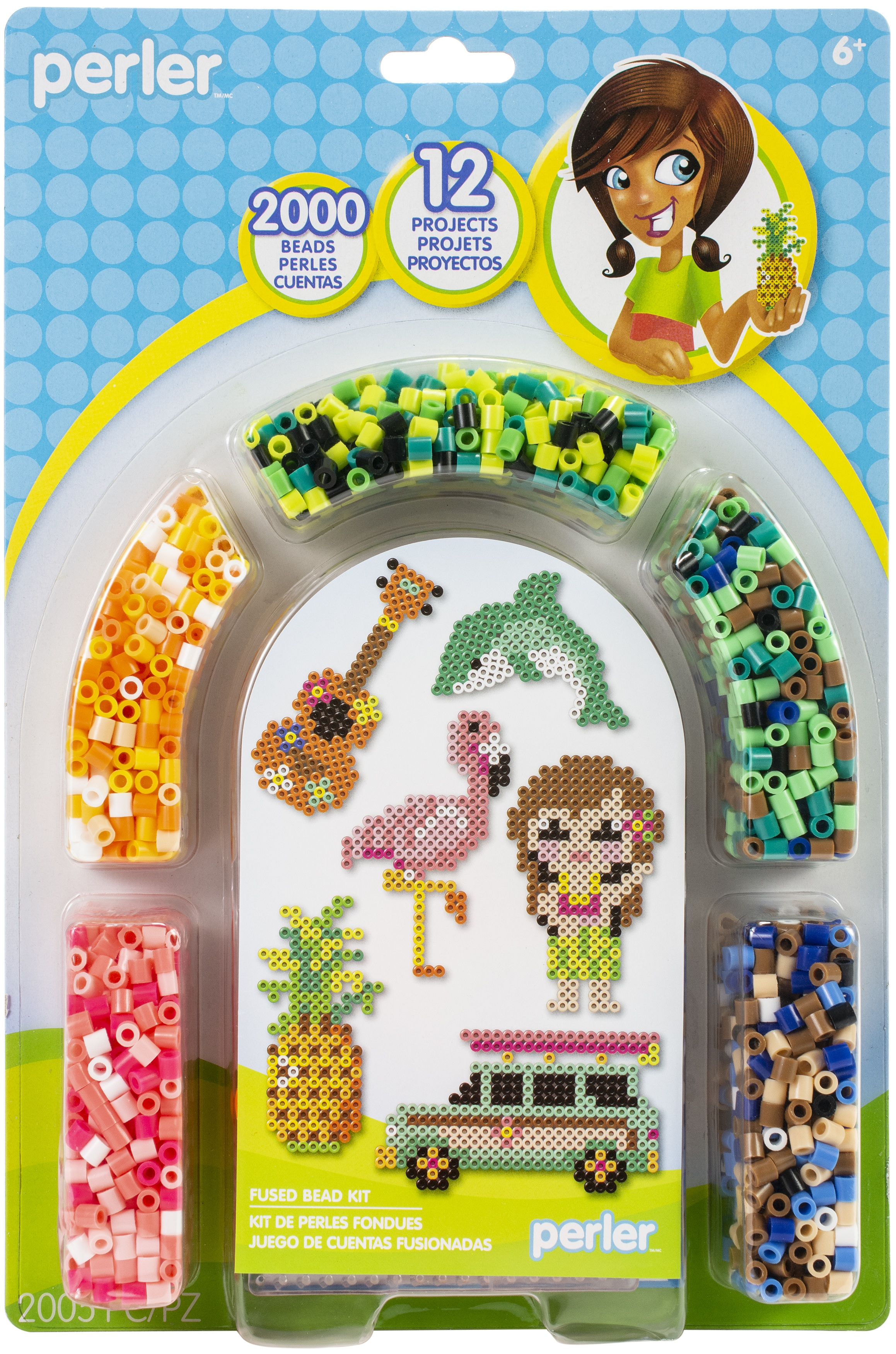 Perler Fuse Bead Activity Kit-Tropical Island Arch