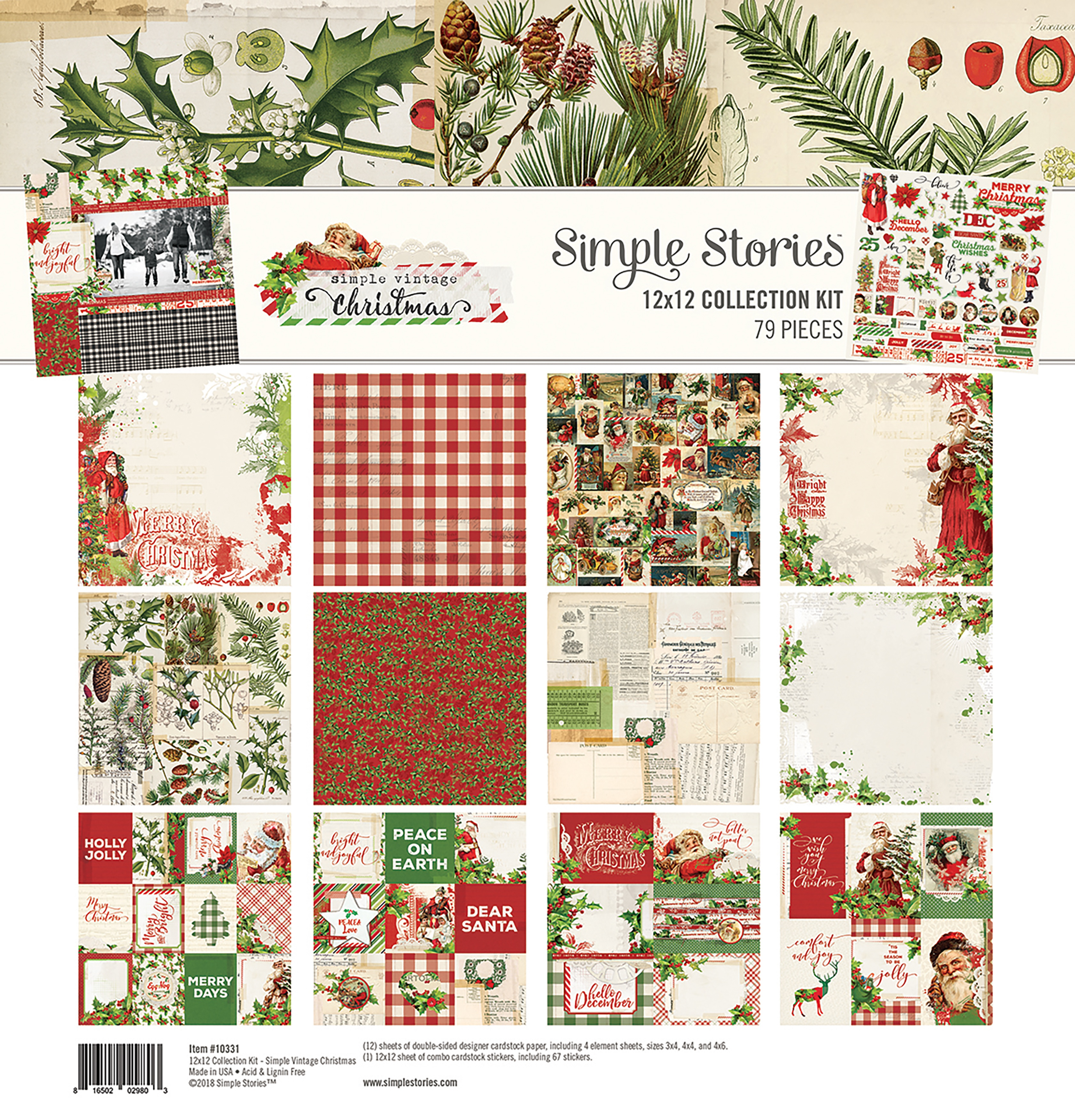 Simple Stories Simple Vintage Christmas - 12x12 Collection Kit