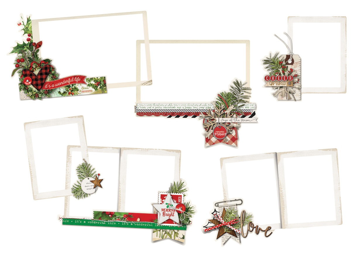 Simple Stories Simple Vintage Christmas - Layered Frames