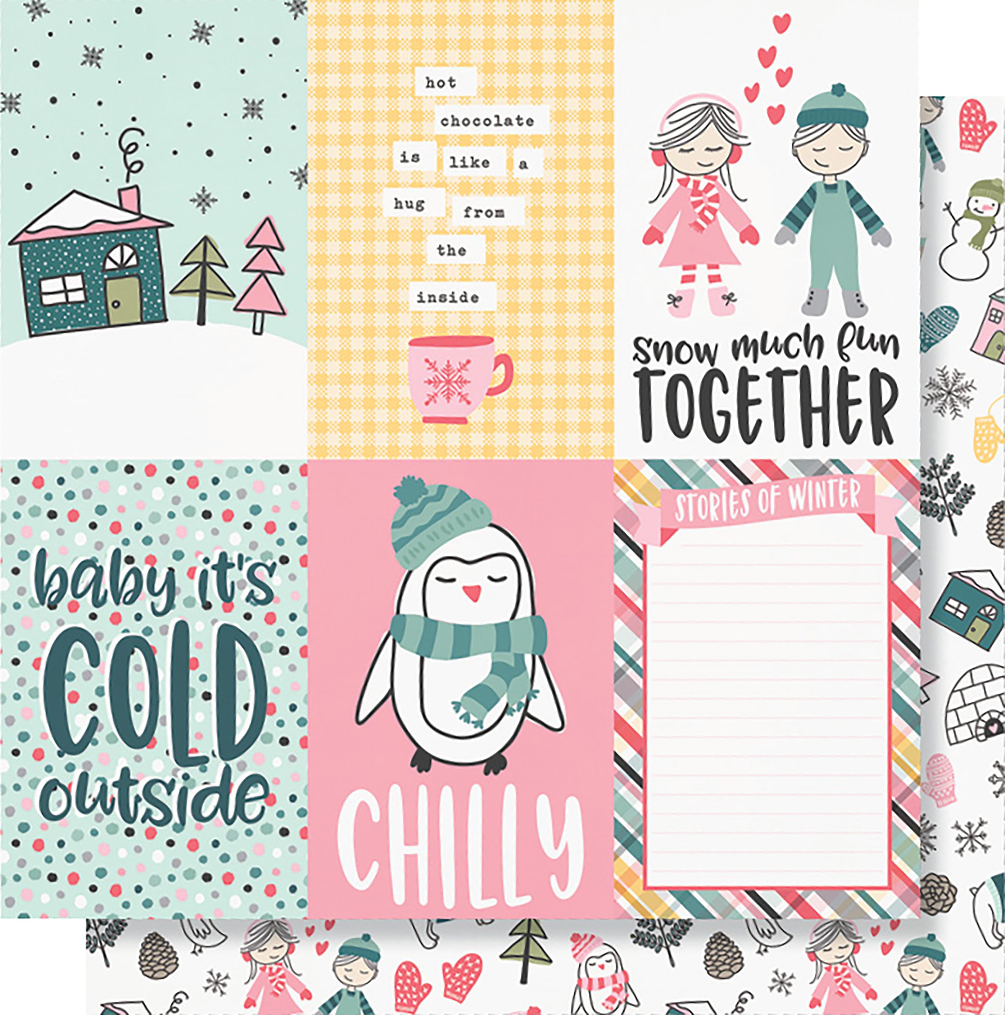 Simple Stories - Freezin' Season - 4x6 Vertical Elements