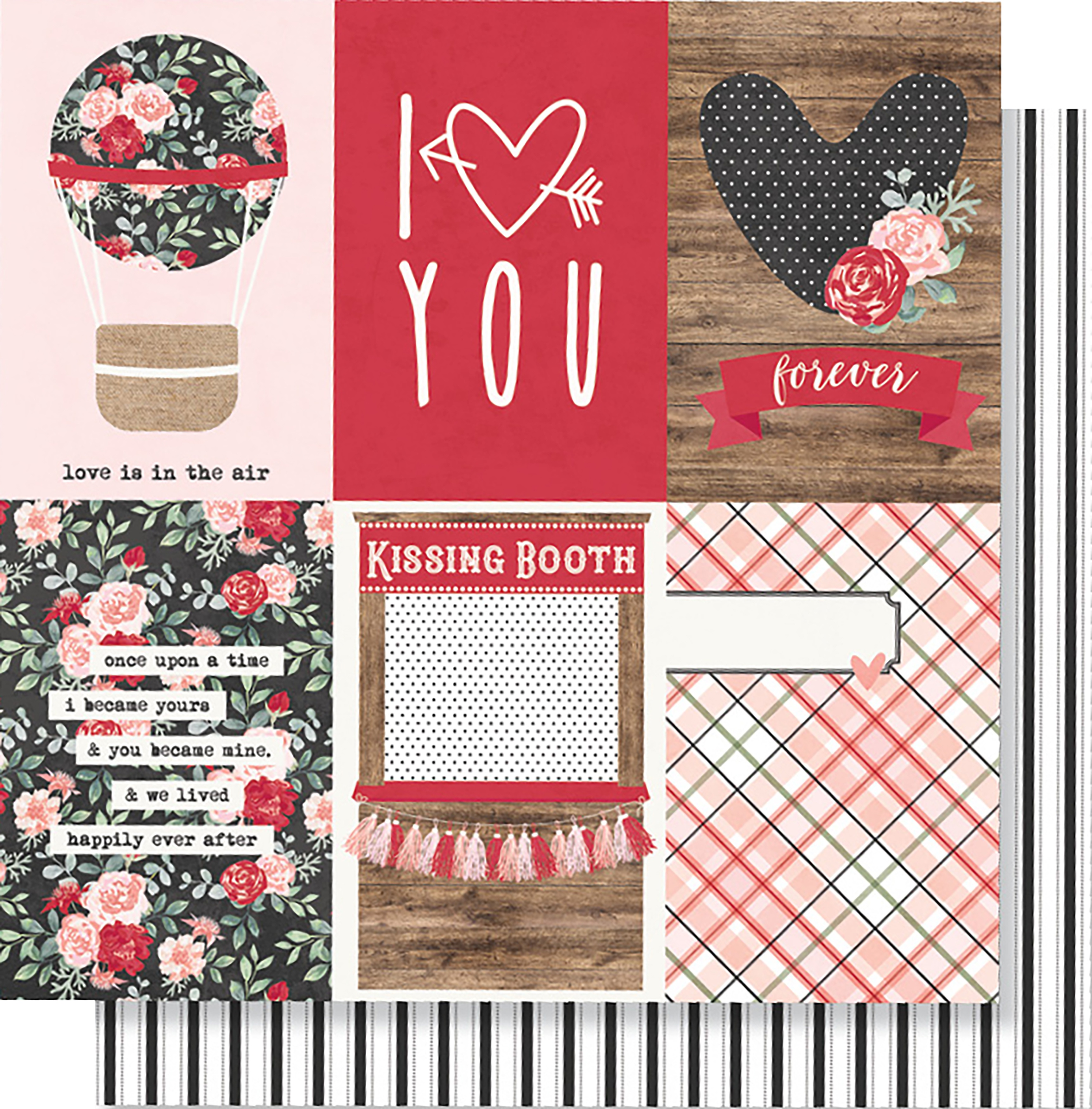 Kissing Booth Double-Sided Cardstock 12X12-4X6 Vertical Elements