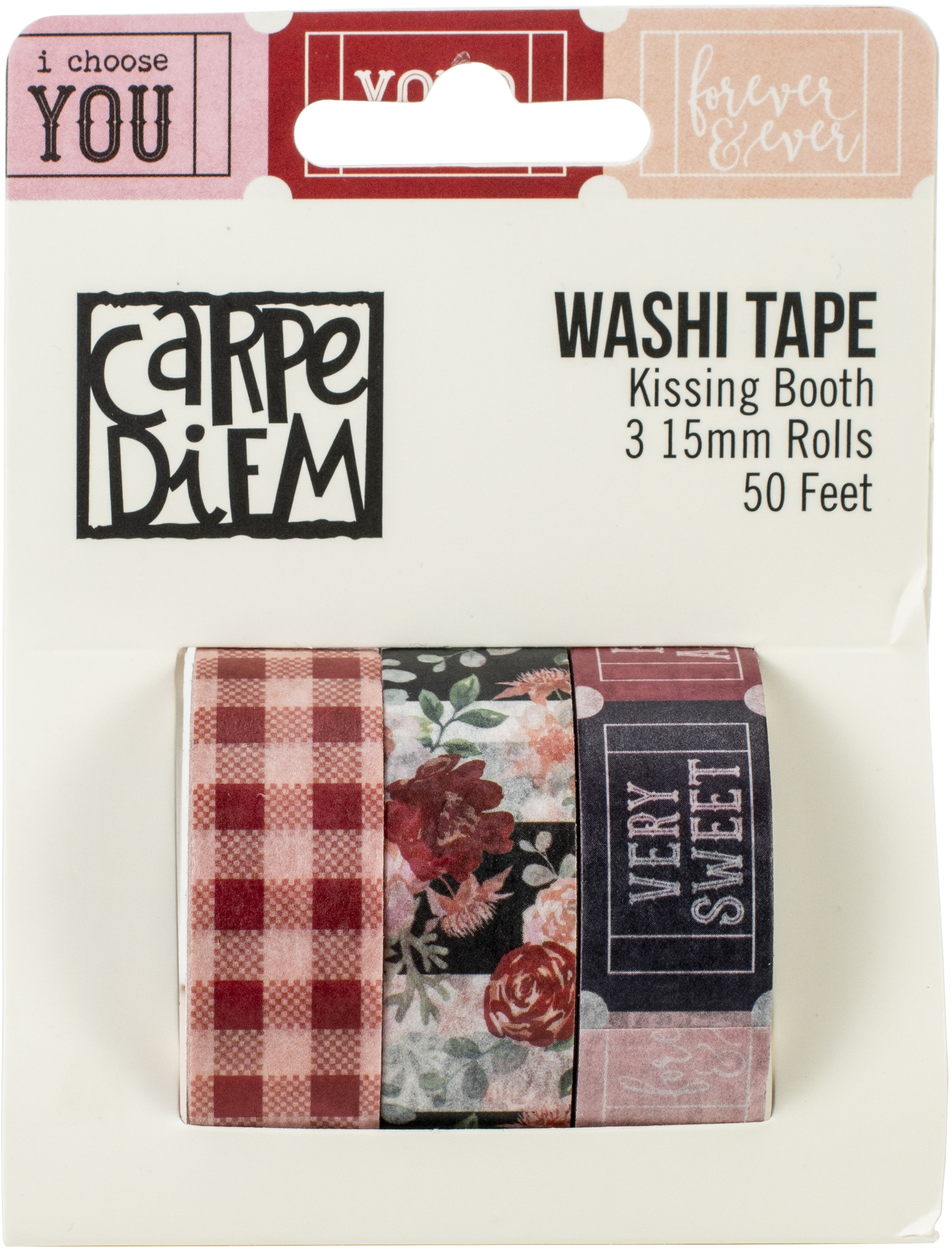 Simple Stories Kissing Booth Washi Tape 3/Pkg-
