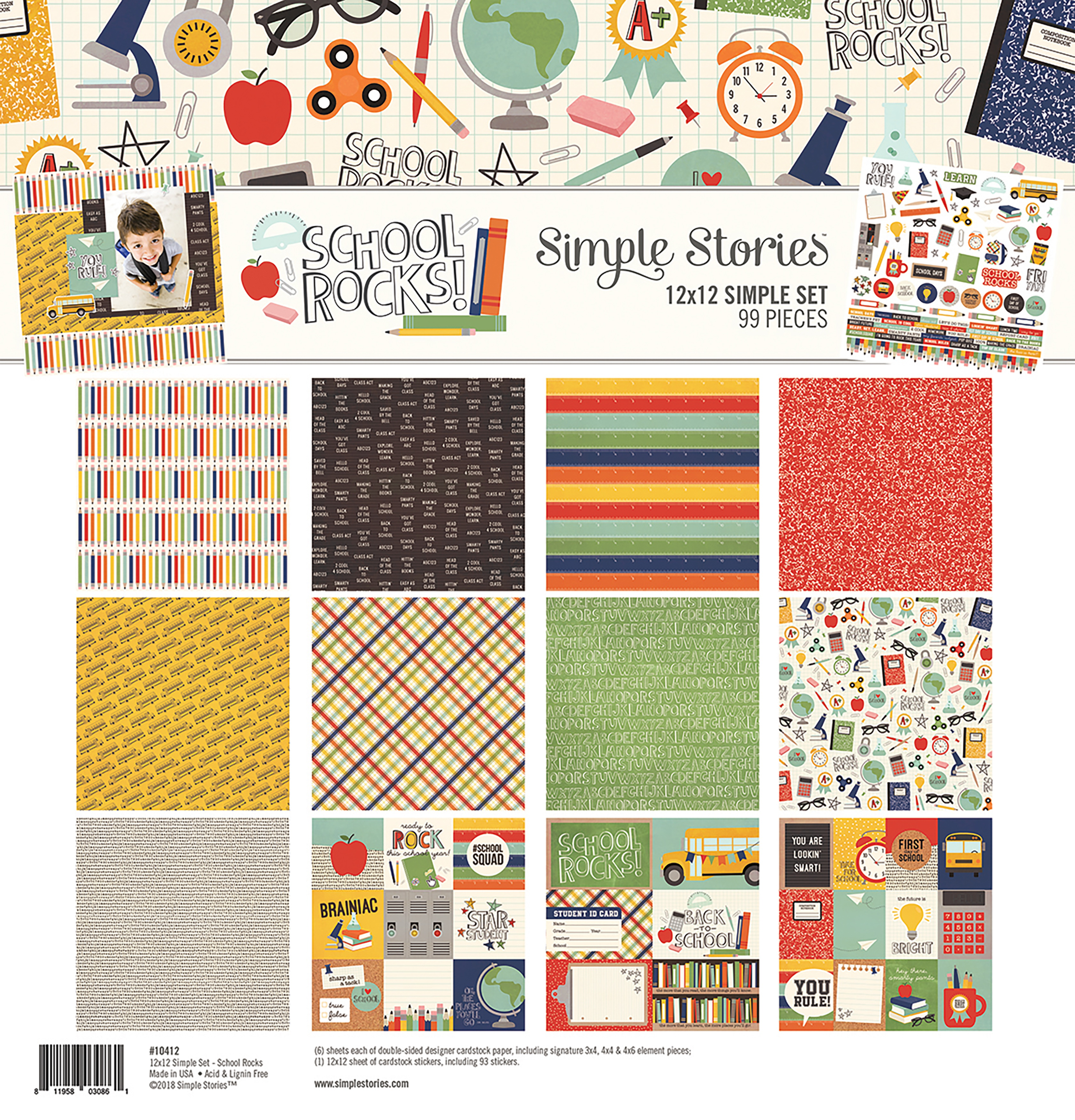 Simple Stories Simple Sets Collection Kit 12X12-School Rocks!
