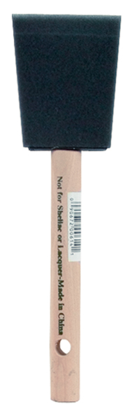 Foam Brush 2 in Wood Handle
