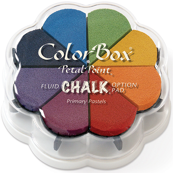 ColorBox Fluid Chalk Petal Point Ink Pad 8 Colors-Primary Pastels