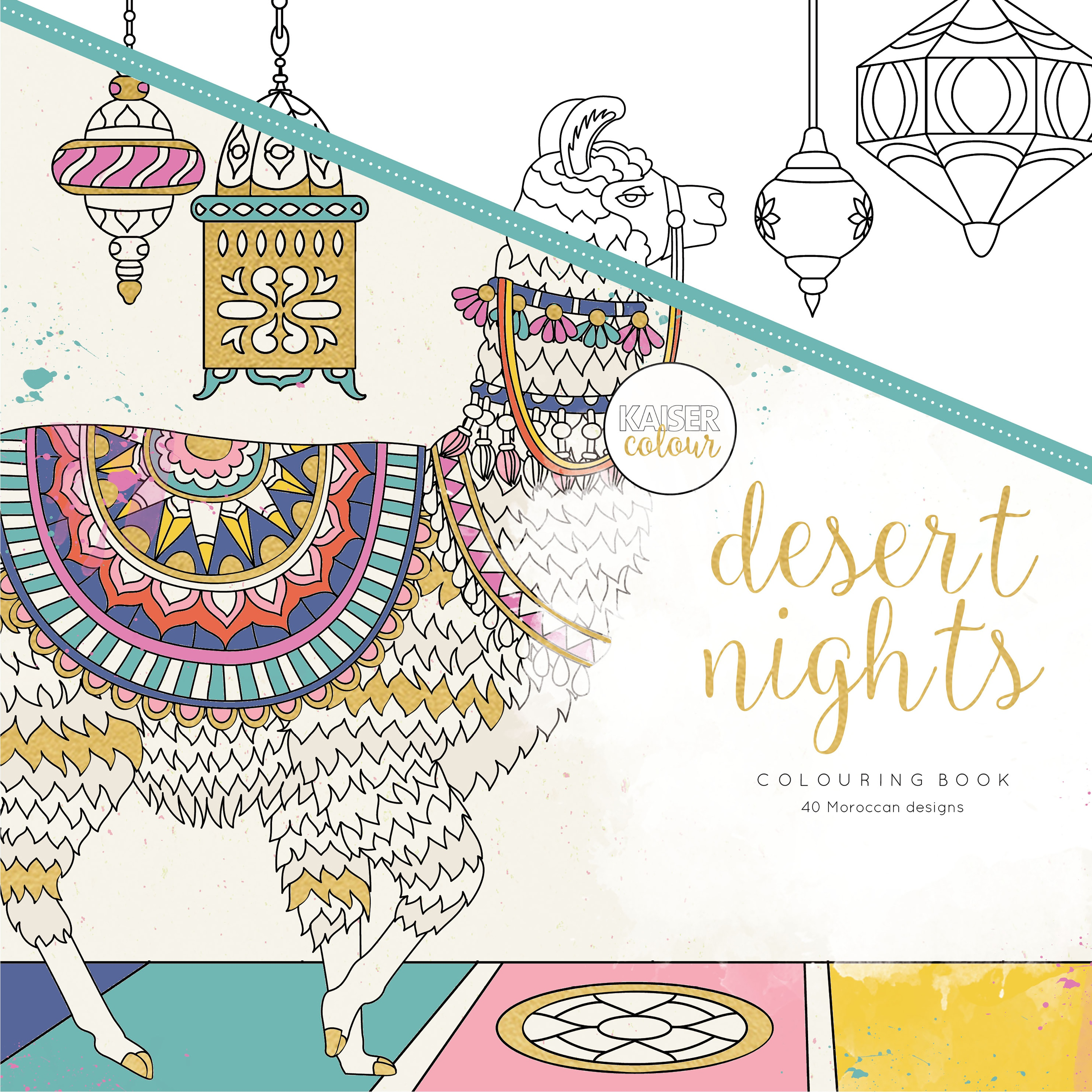 KaiserColour Perfect Bound Coloring Book 9.75X9.75-Desert Nights