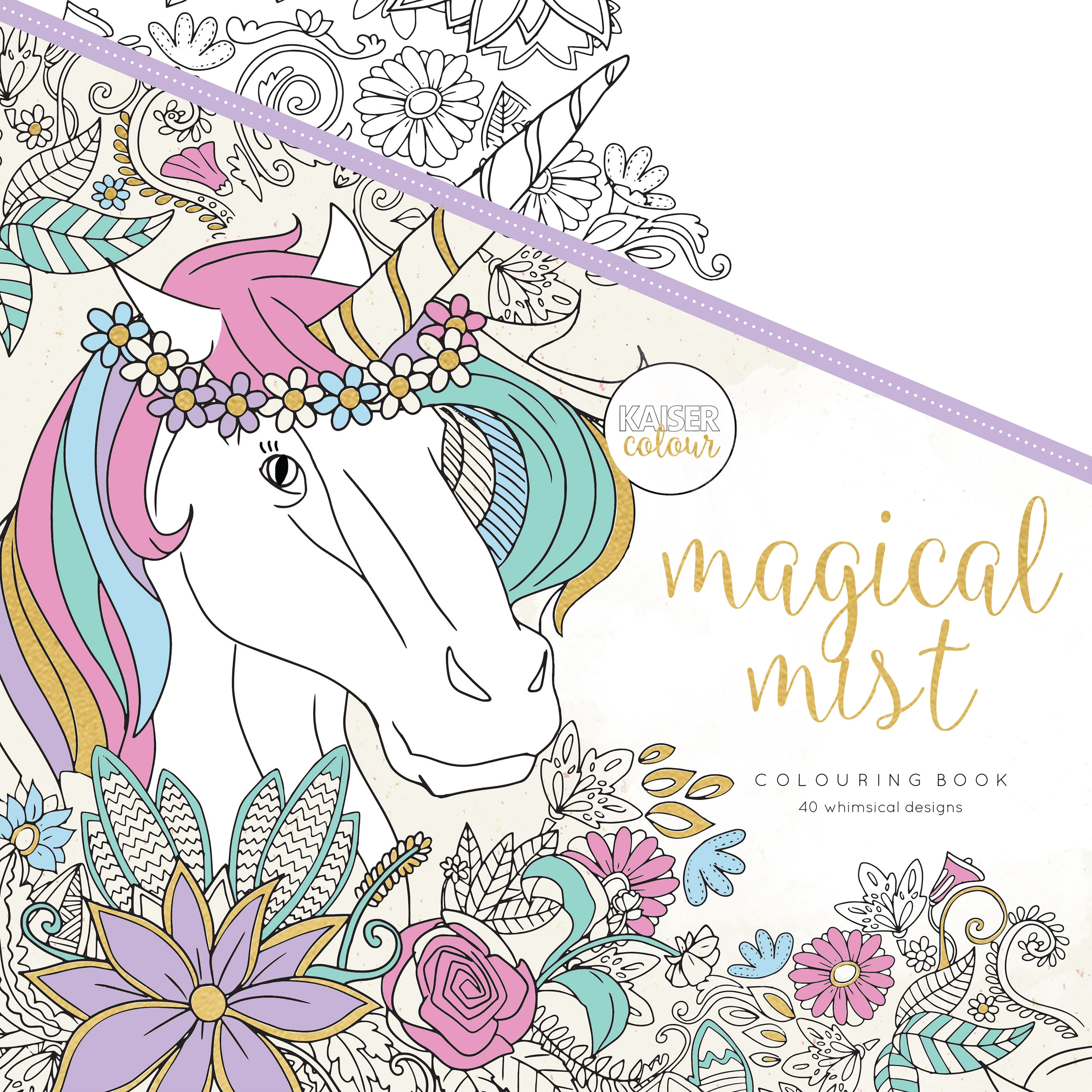 KaiserColour Perfect Bound Coloring Book 9.75X9.75-Magical Mist