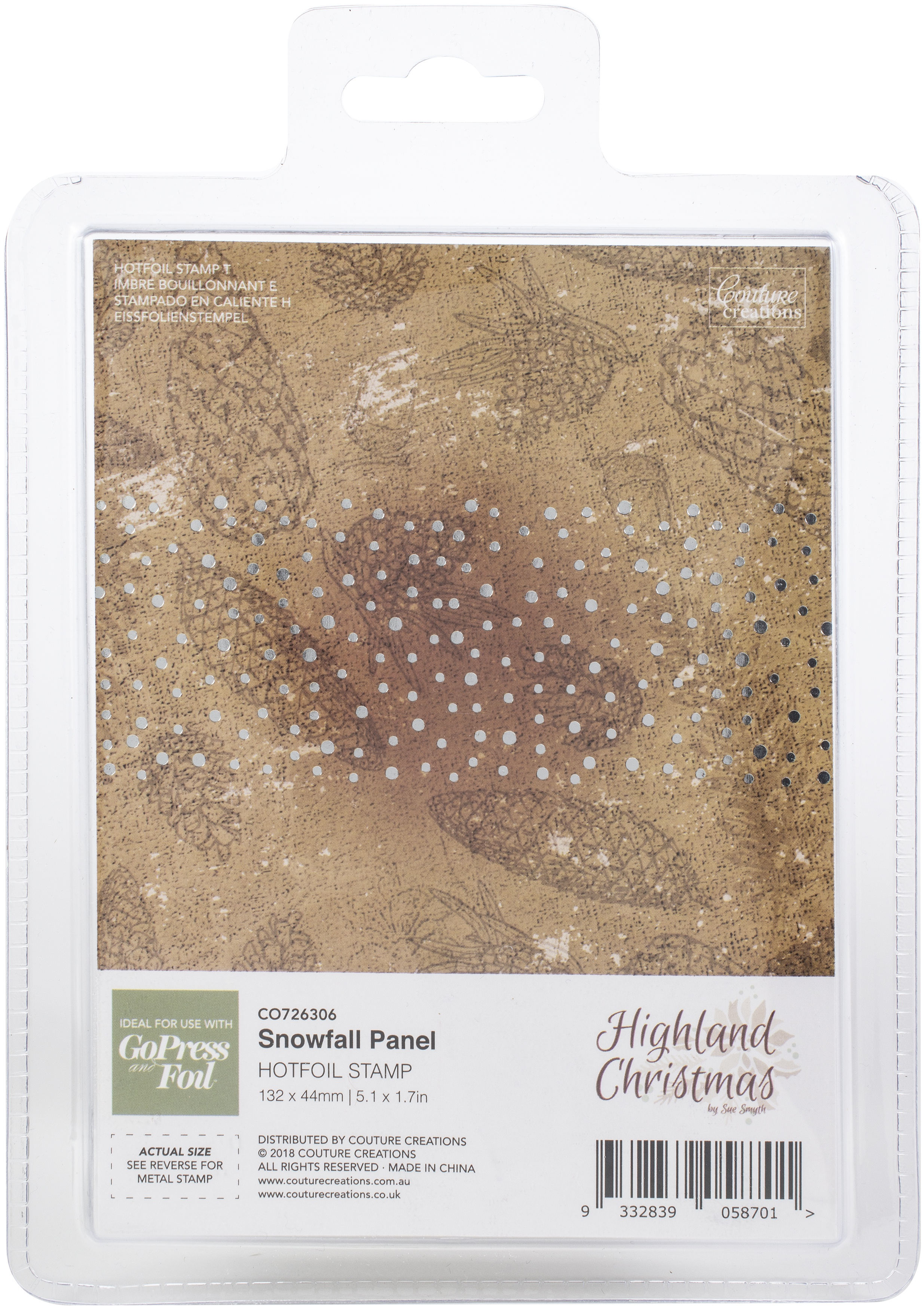Couture Creations - Hot Foil Stamp - Snowfall Panel