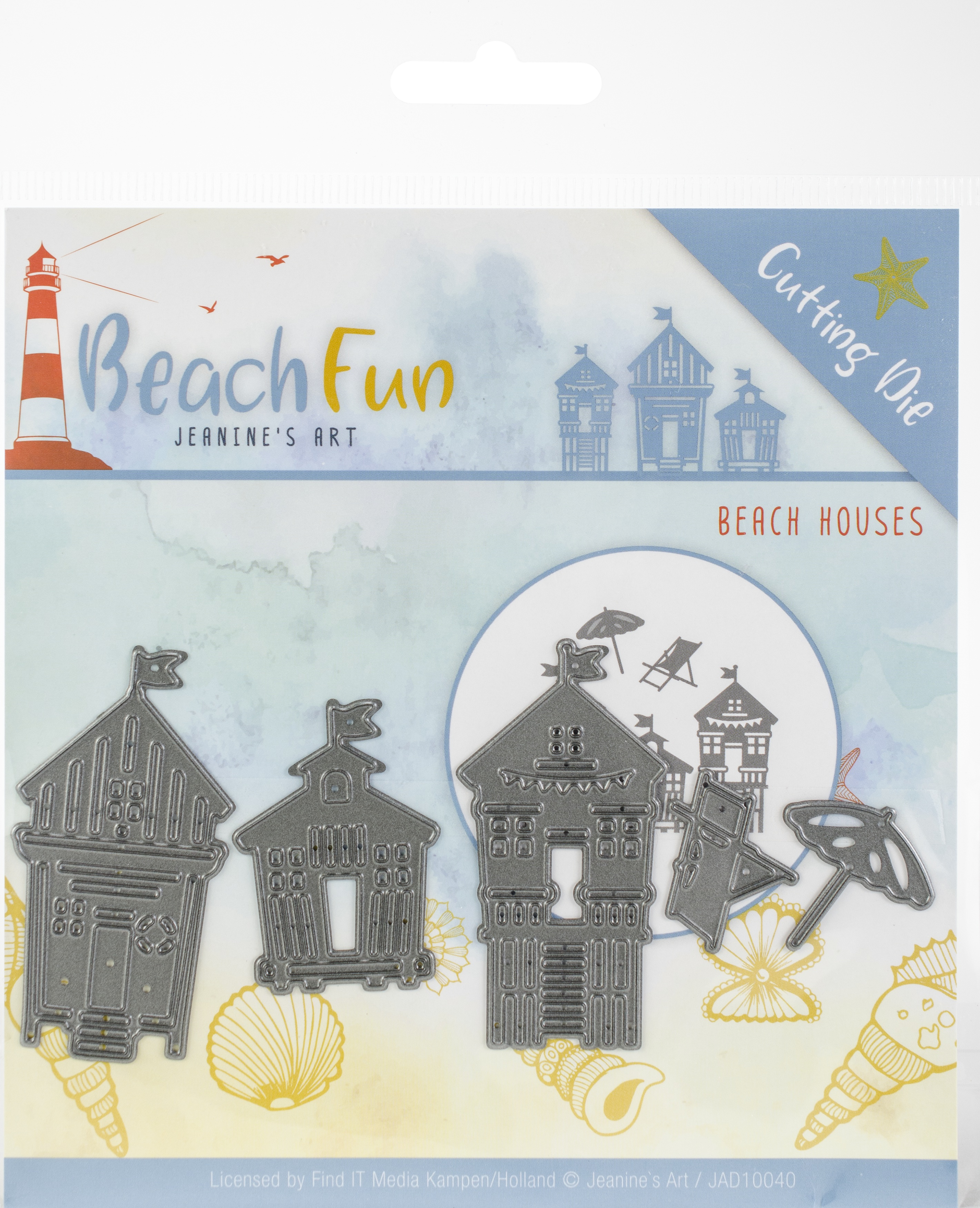 Find It Trading Jeanine's Art Die-Beach Houses, Beach Fun
