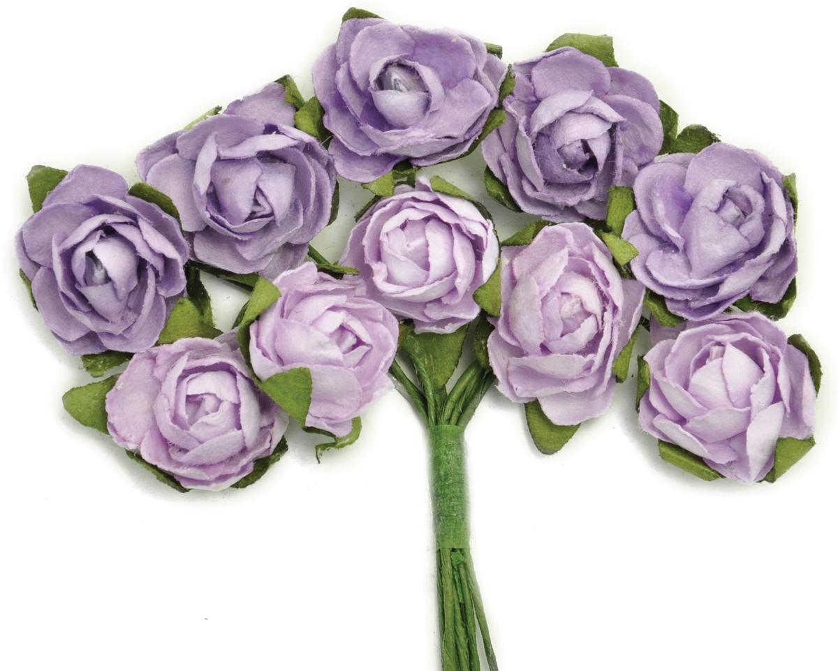 Mini Paper Blooms Flowers Amethyst