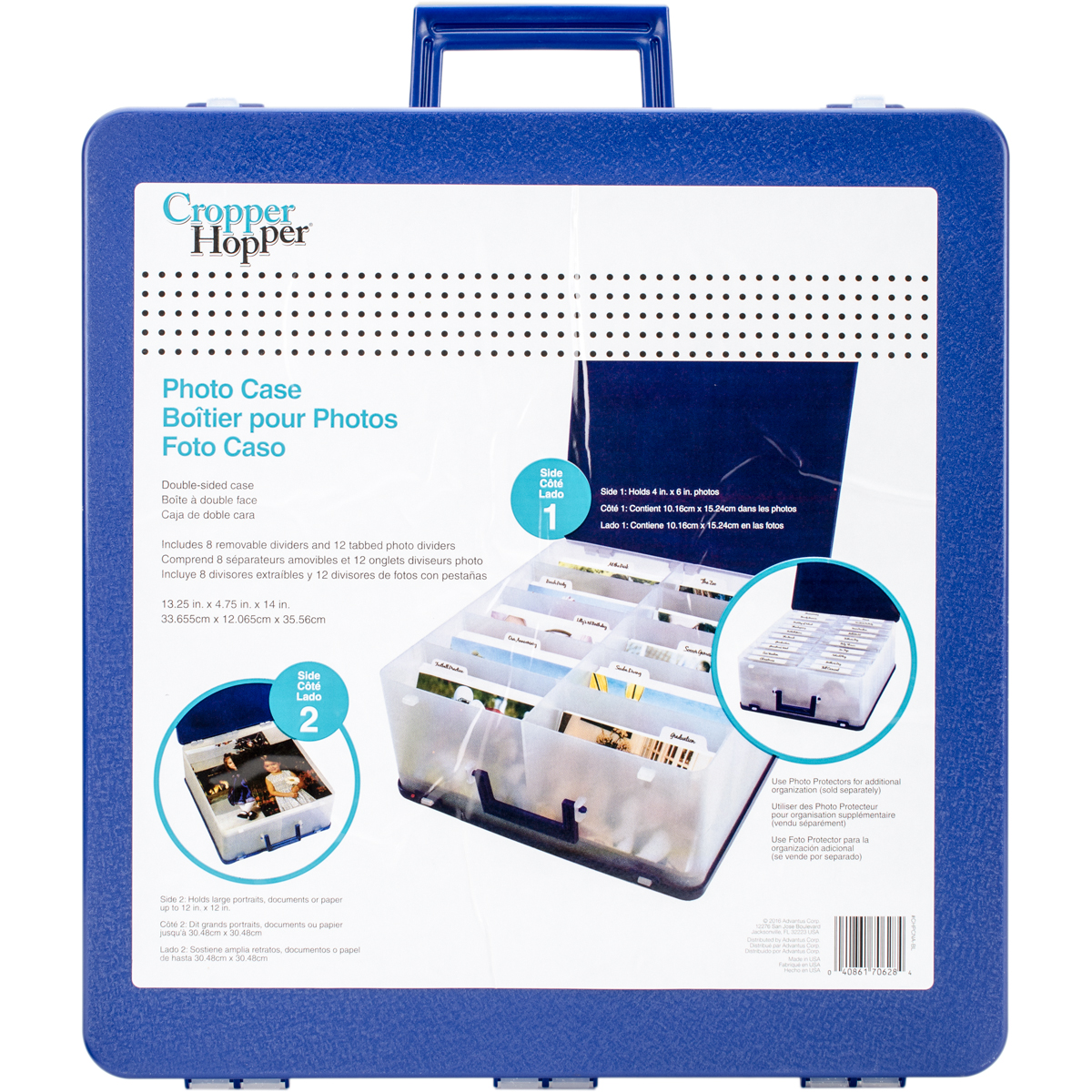 Cropper Hopper Photo Case-13.25X12.75X6 Blue