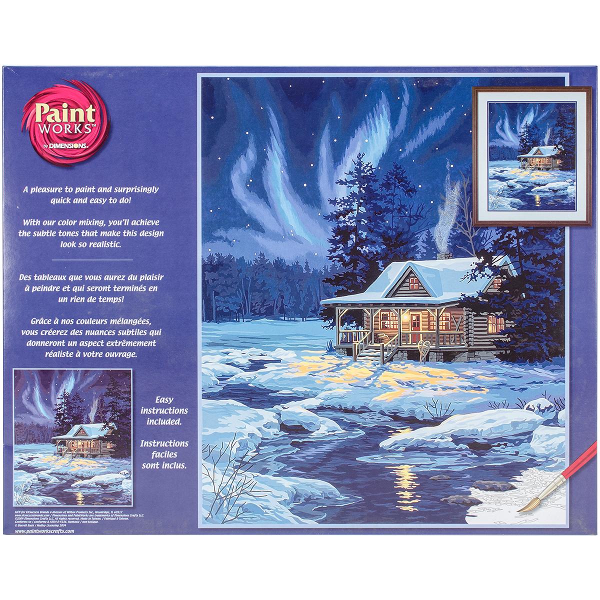 Paint Works Paint By Number Kit 16X20-Moonlit Cabin