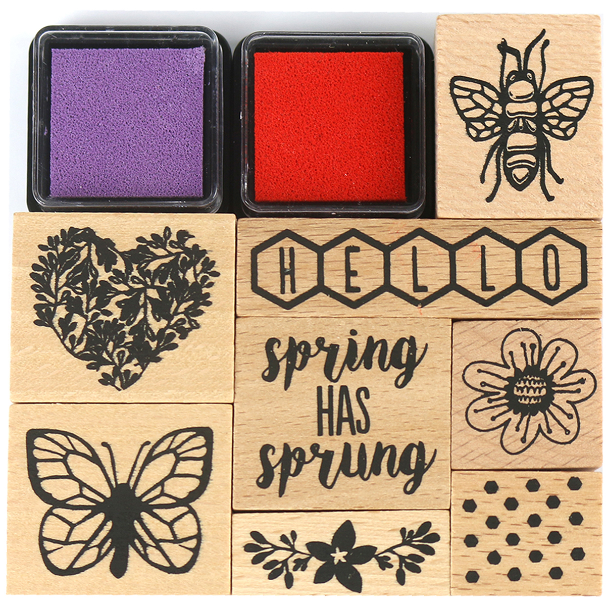 Dovecraft Blooming Lovely Wooden Stamps-