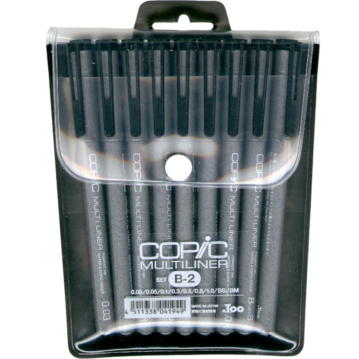 Copic Multiliner Black Ink Pens 9/Pkg-Set B-2