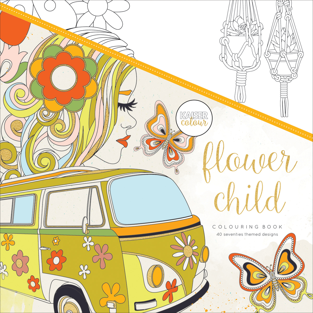 KaiserColour Perfect Bound Coloring Book 9.75X9.75-Flower Child
