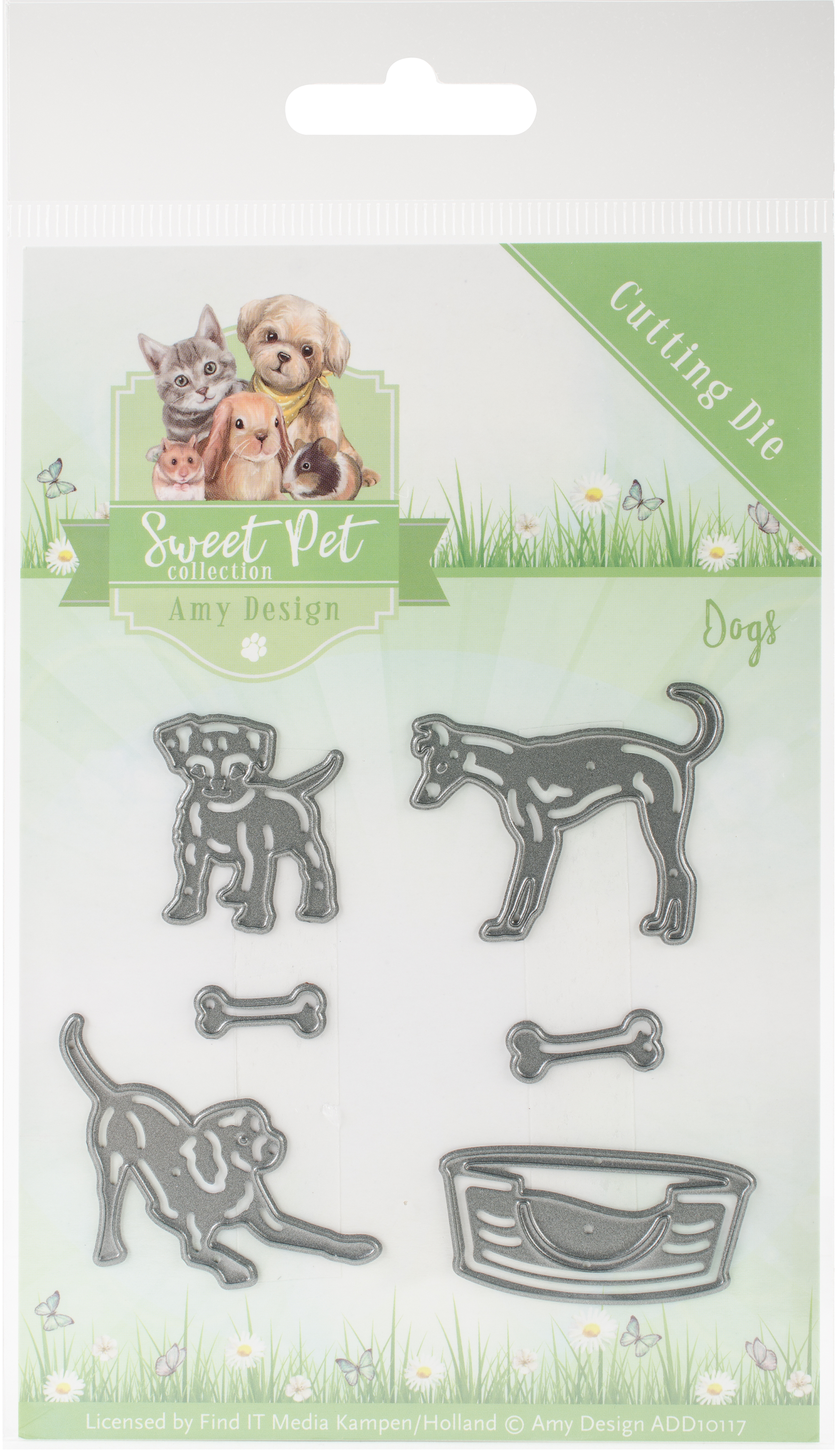 Find It Trading Amy Design Die-Dogs, Sweet Pet