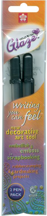 Gelly Roll Glaze Bold Point Pens 2/Pkg-Clear