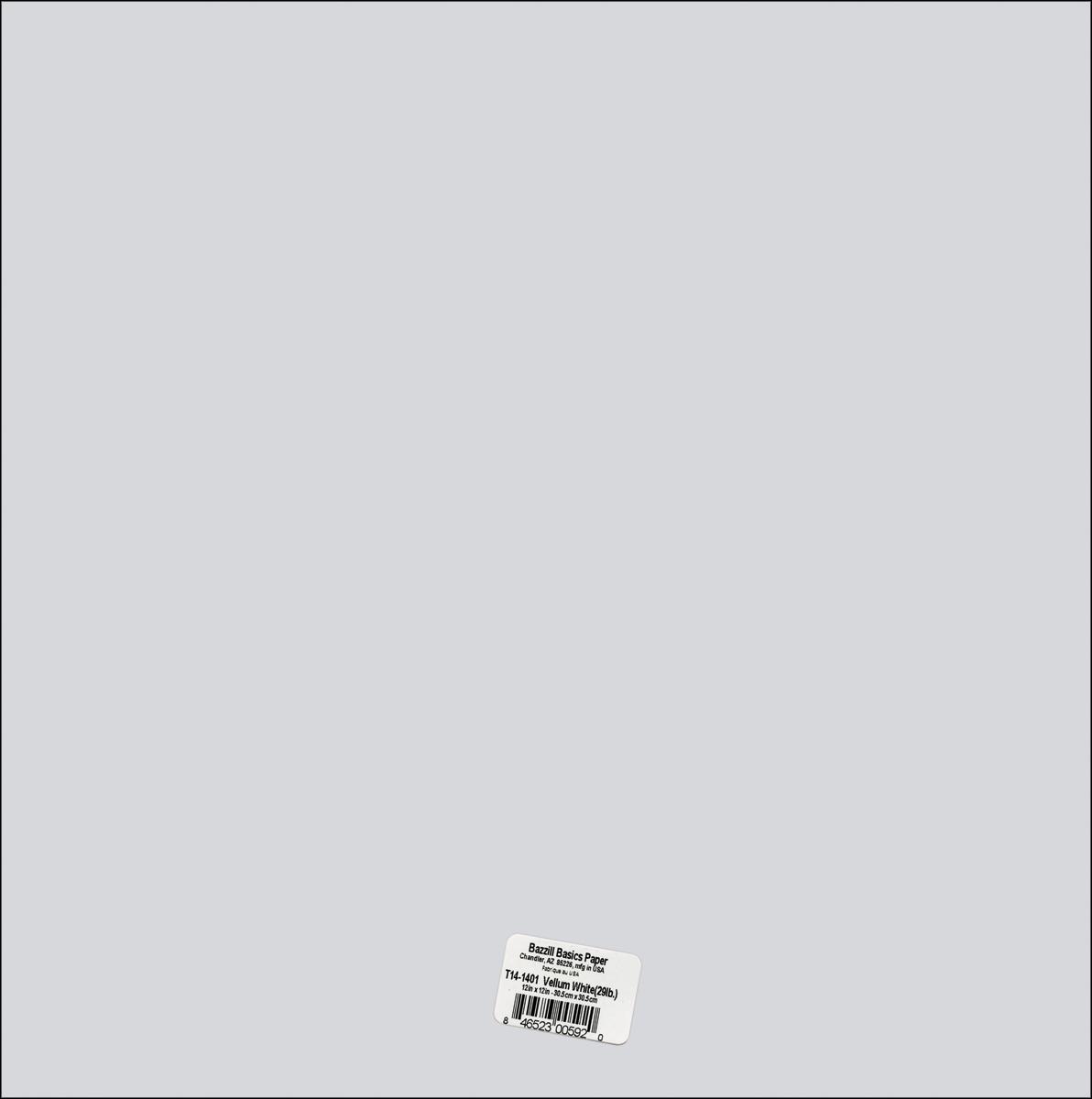 Bazzill 12x12 Vellum - White, 29lb