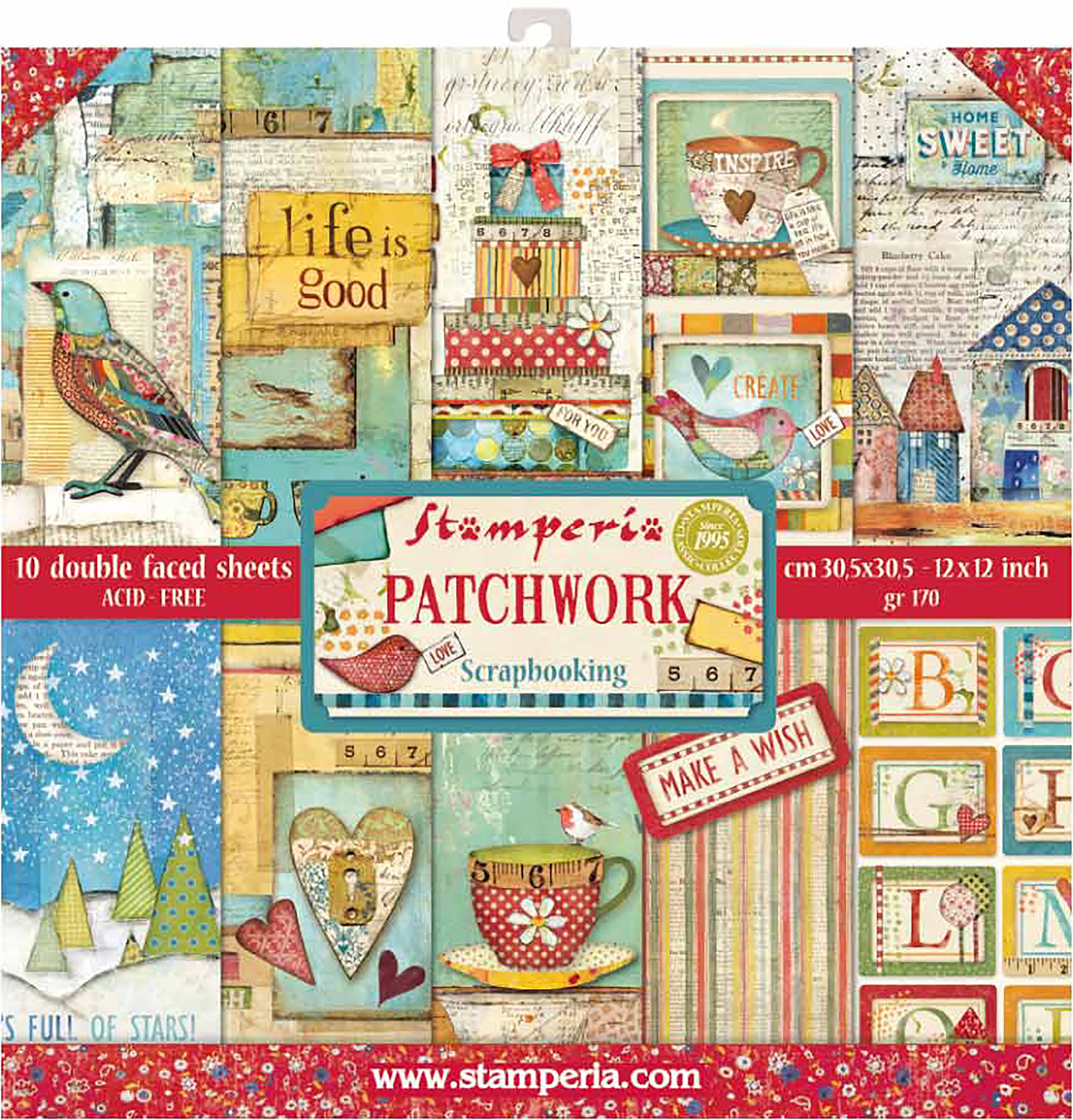 Stamperia Patchwork - 12x12 Paper Pack